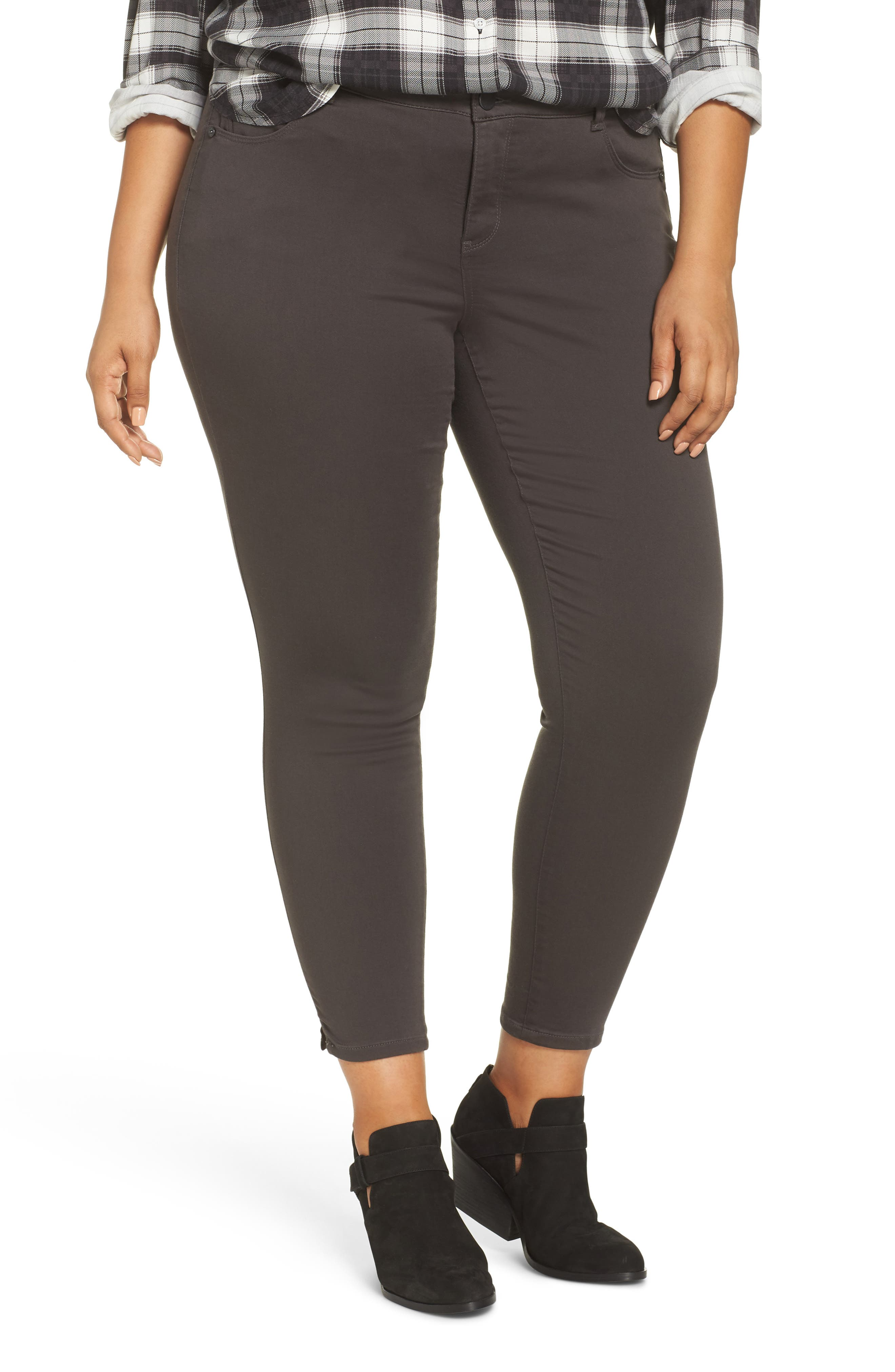 Ab-Solution Ankle Skimmer Jeans,                             Main thumbnail 1, color,                             EXPRESSO