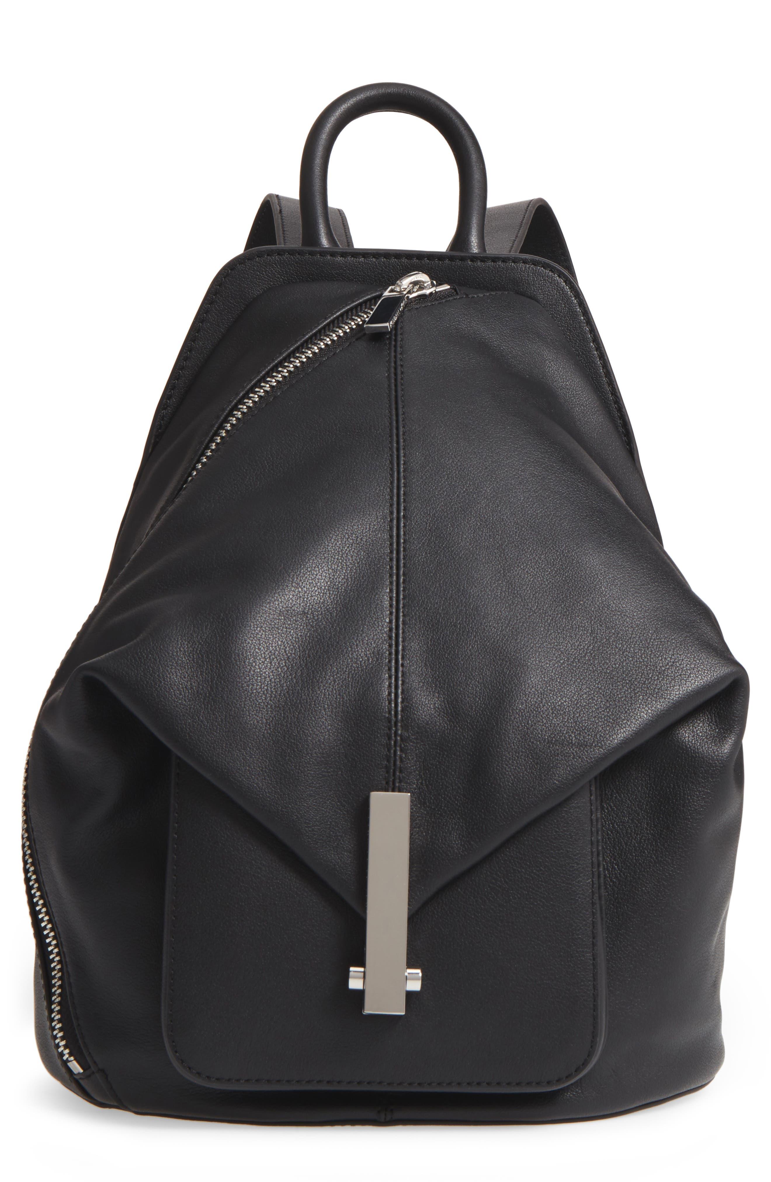 Koenji Leather Backpack,                             Main thumbnail 1, color,                             001