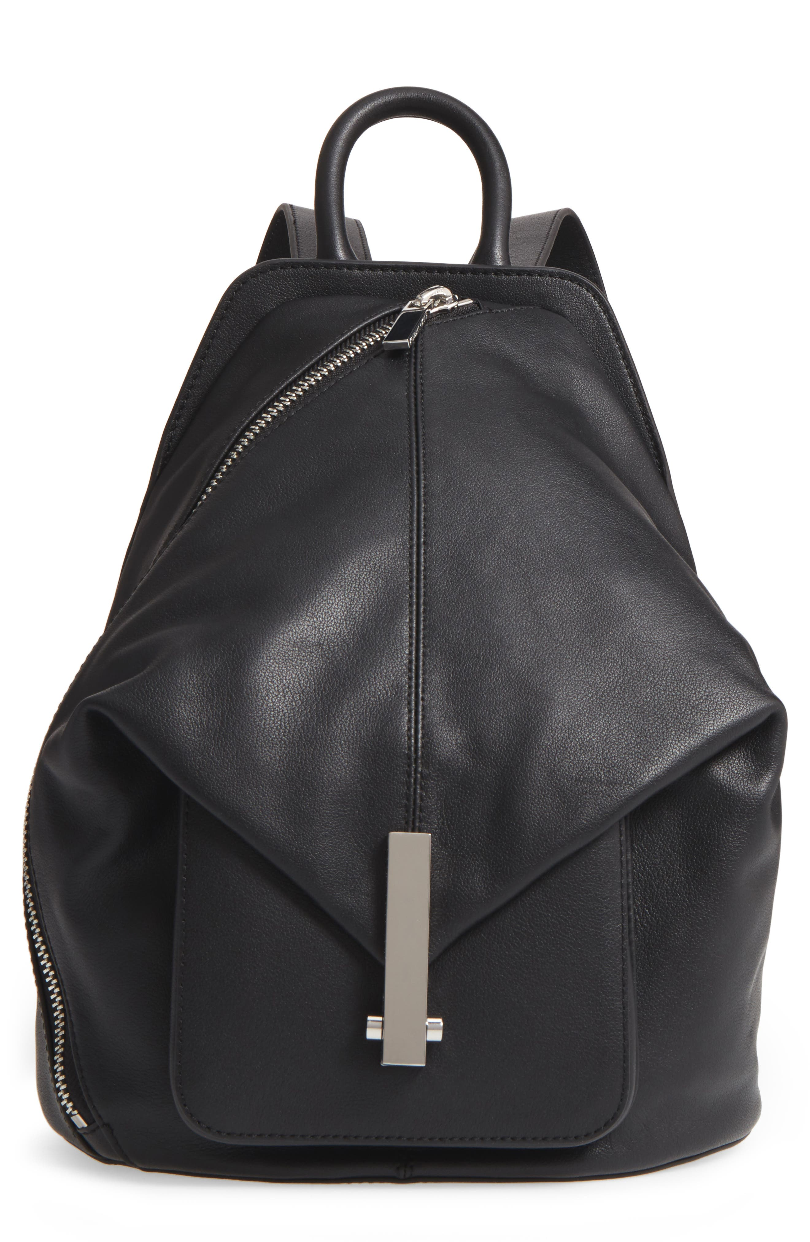 Koenji Leather Backpack,                         Main,                         color, 001