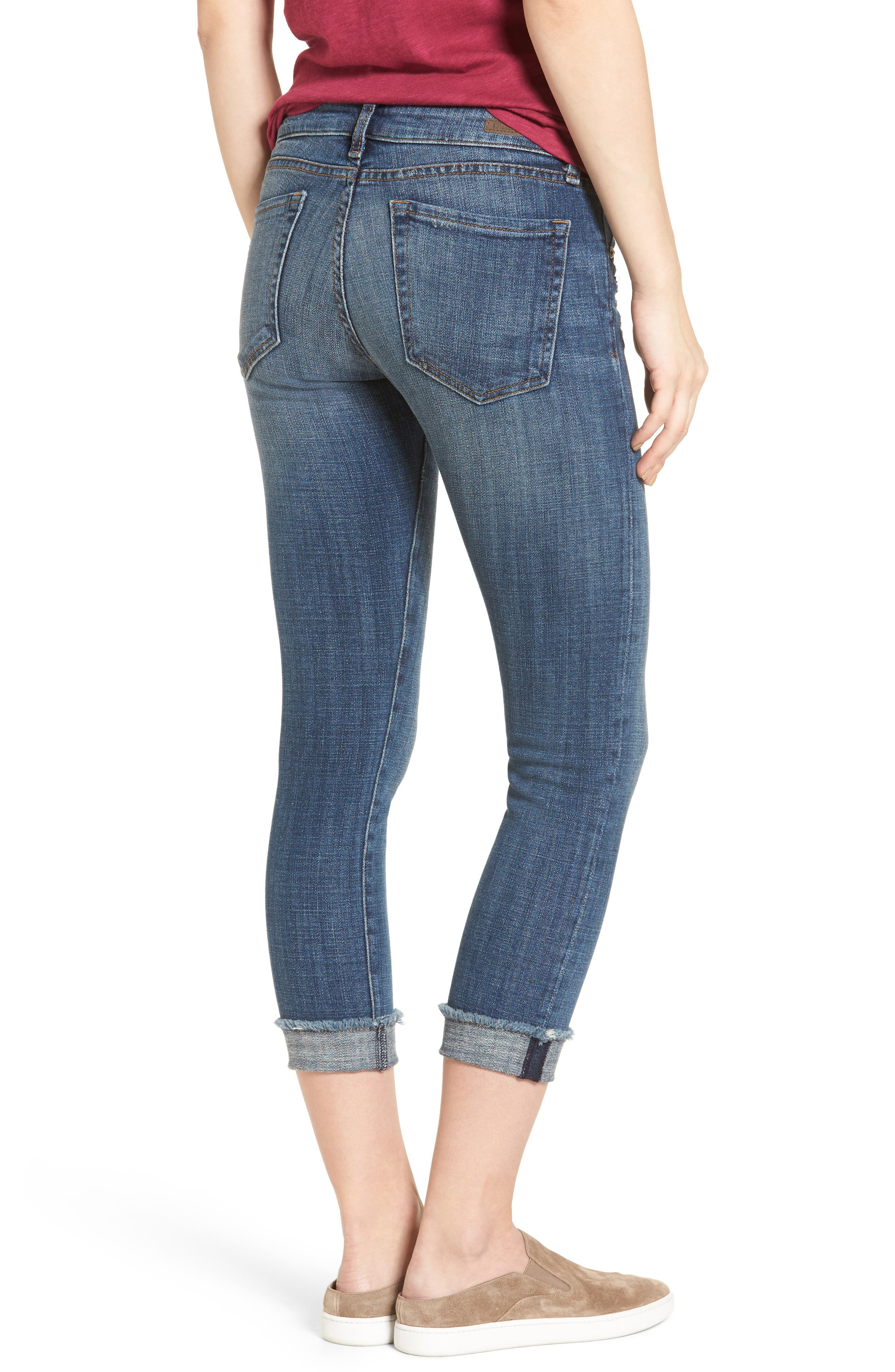 Amy Stretch Crop Skinny Jeans,                             Alternate thumbnail 2, color,                             477