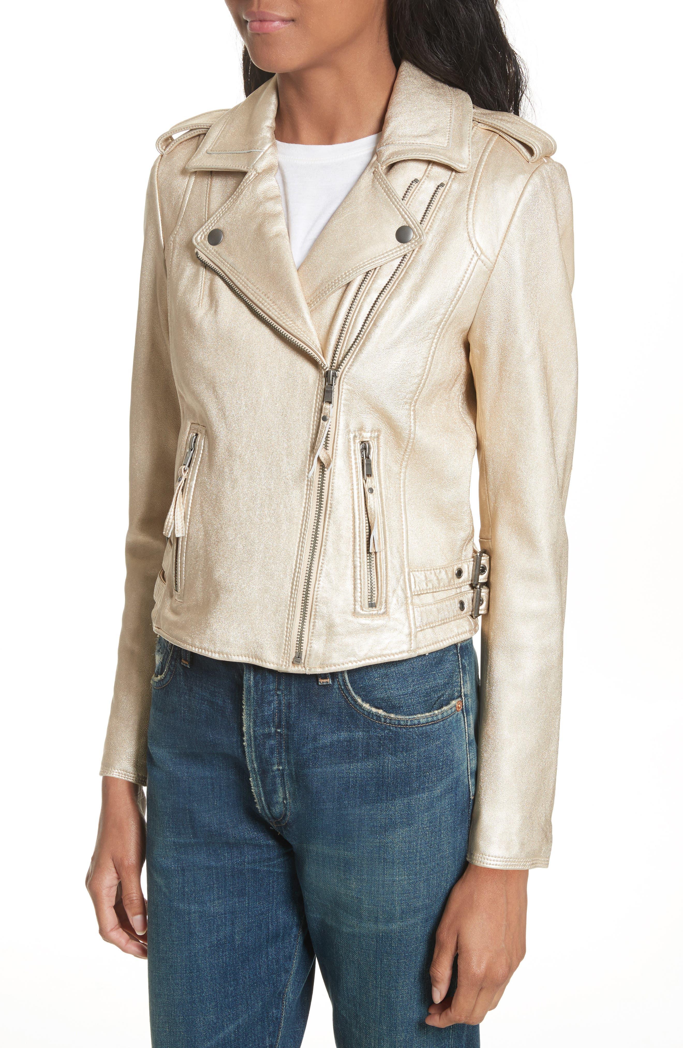Leolani Leather Jacket,                             Alternate thumbnail 8, color,