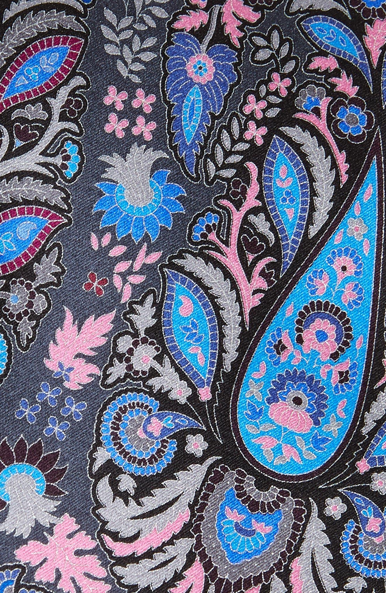 Quindici + Quindici Paisley Silk Tie,                             Alternate thumbnail 2, color,                             BLACK/ BLUE