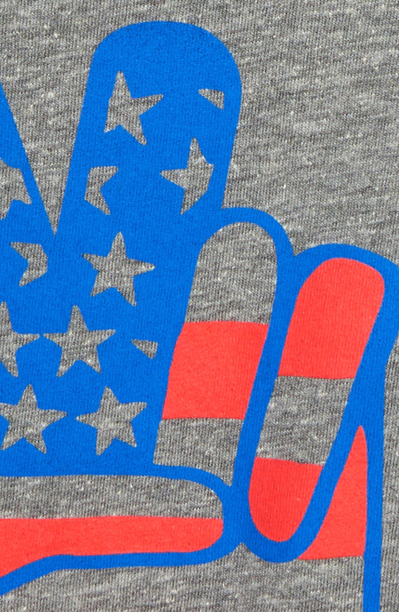 Peace Flag T-Shirt,                             Alternate thumbnail 3, color,                             032