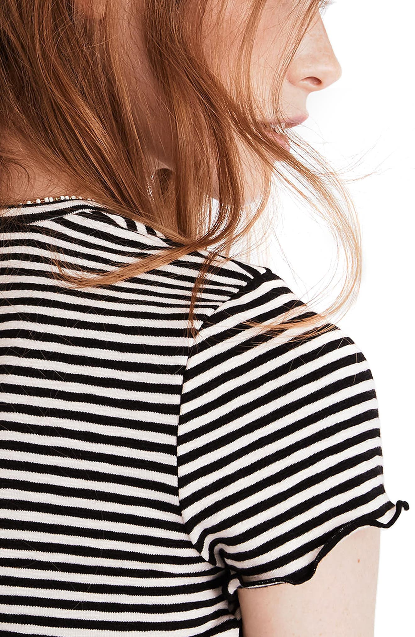 Stripe Baby Tee,                             Alternate thumbnail 2, color,                             001
