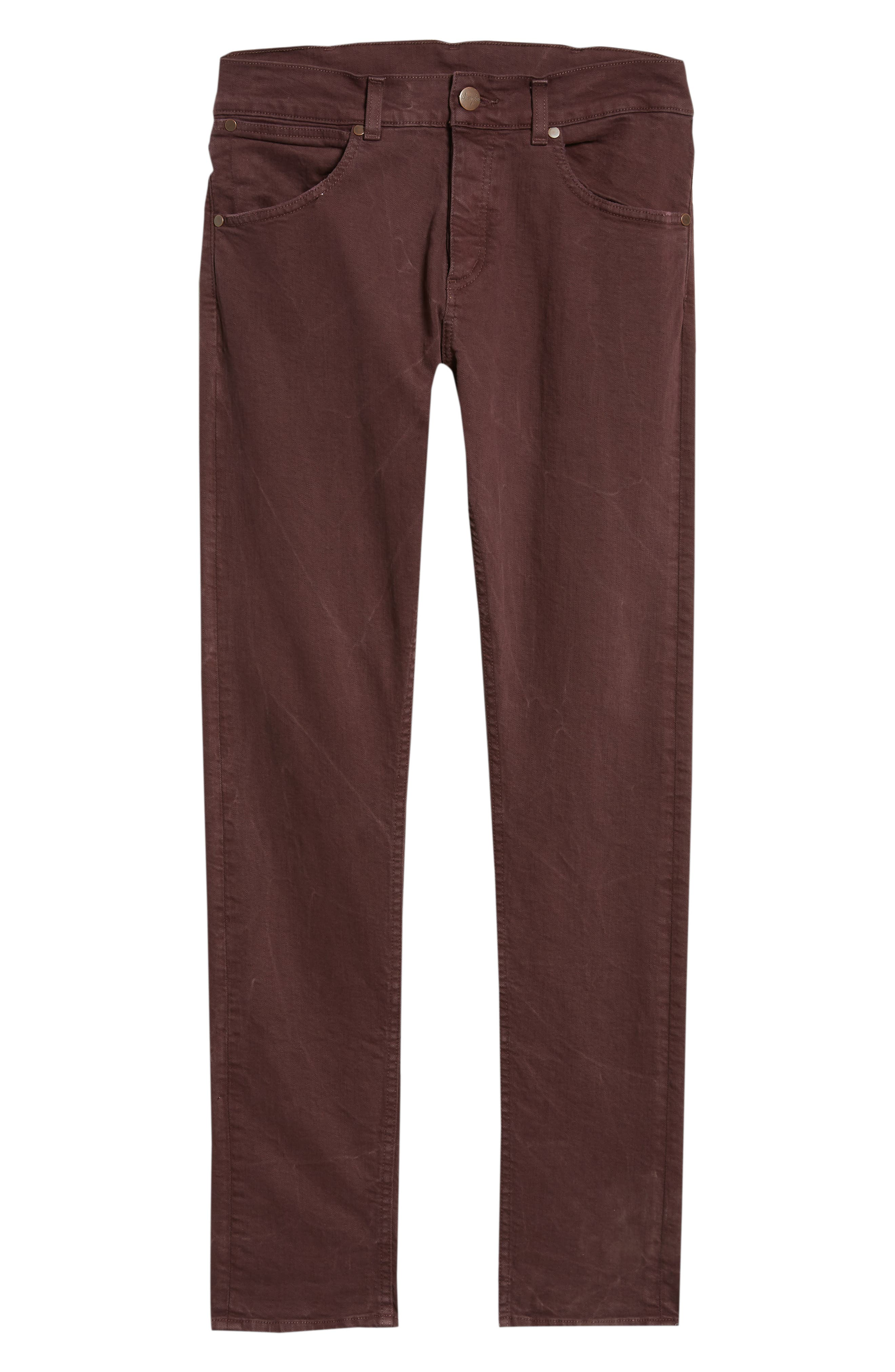 Larston Slim Fit Jeans,                             Alternate thumbnail 6, color,                             AUBERGINE
