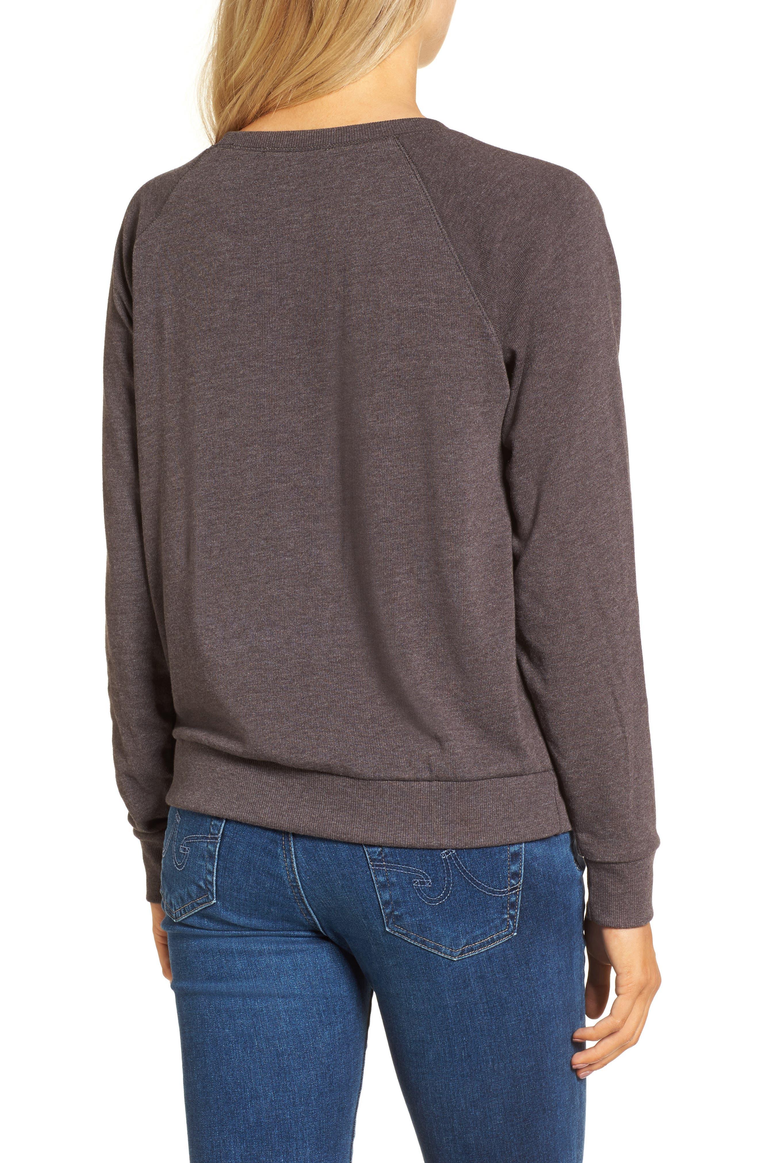 Champagne Hacci Sweatshirt,                             Alternate thumbnail 2, color,
