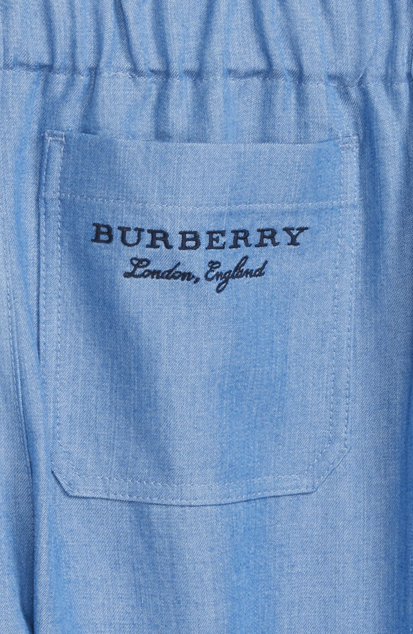 Phillie Chambray Pants,                             Alternate thumbnail 3, color,