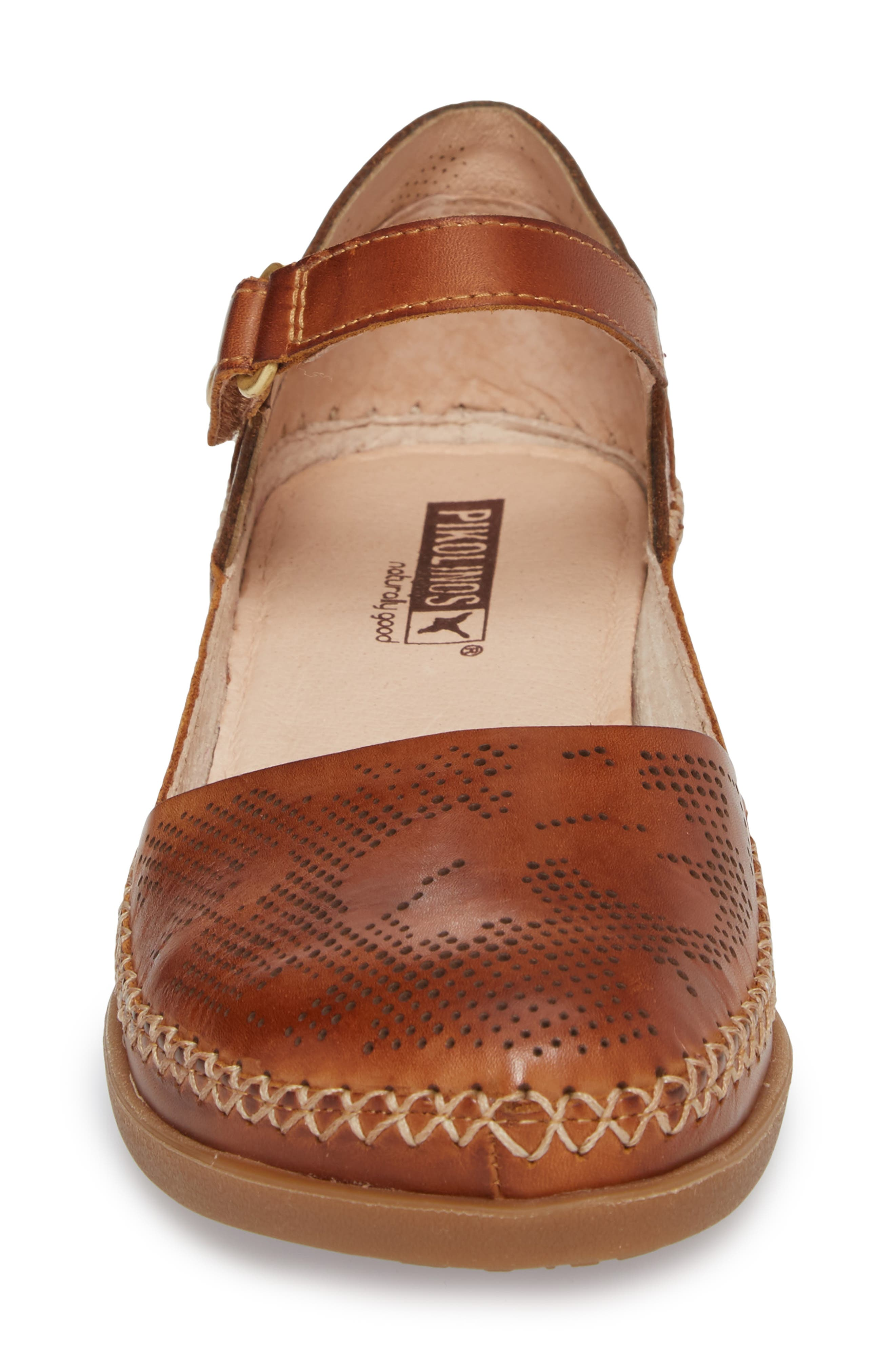 Cadaques Flat,                             Alternate thumbnail 4, color,                             BRANDY LEATHER