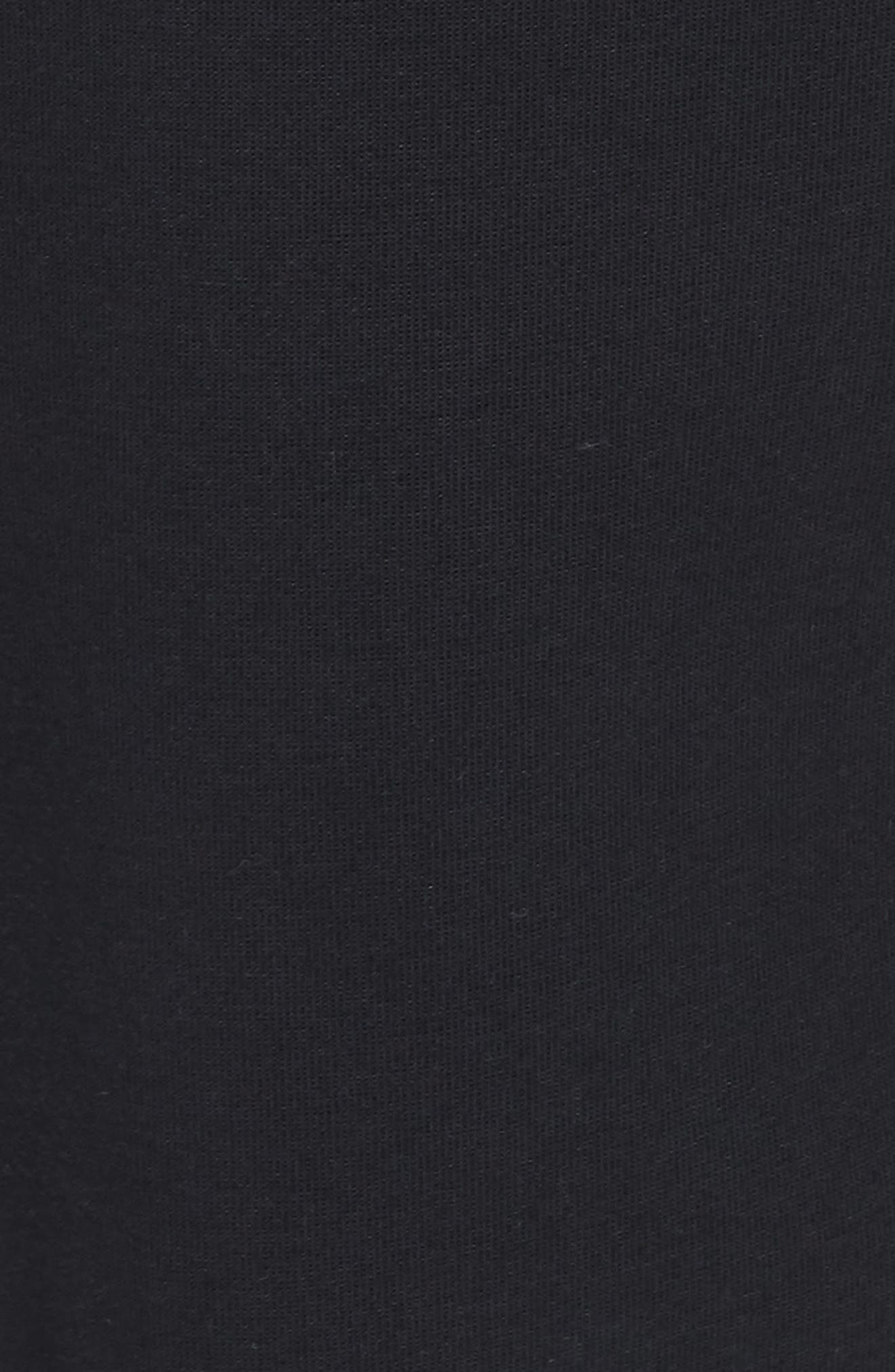 Sportswear High Rise Tech Fleece Jogger Pants,                             Alternate thumbnail 6, color,                             BLACK/ BLACK/ WHITE