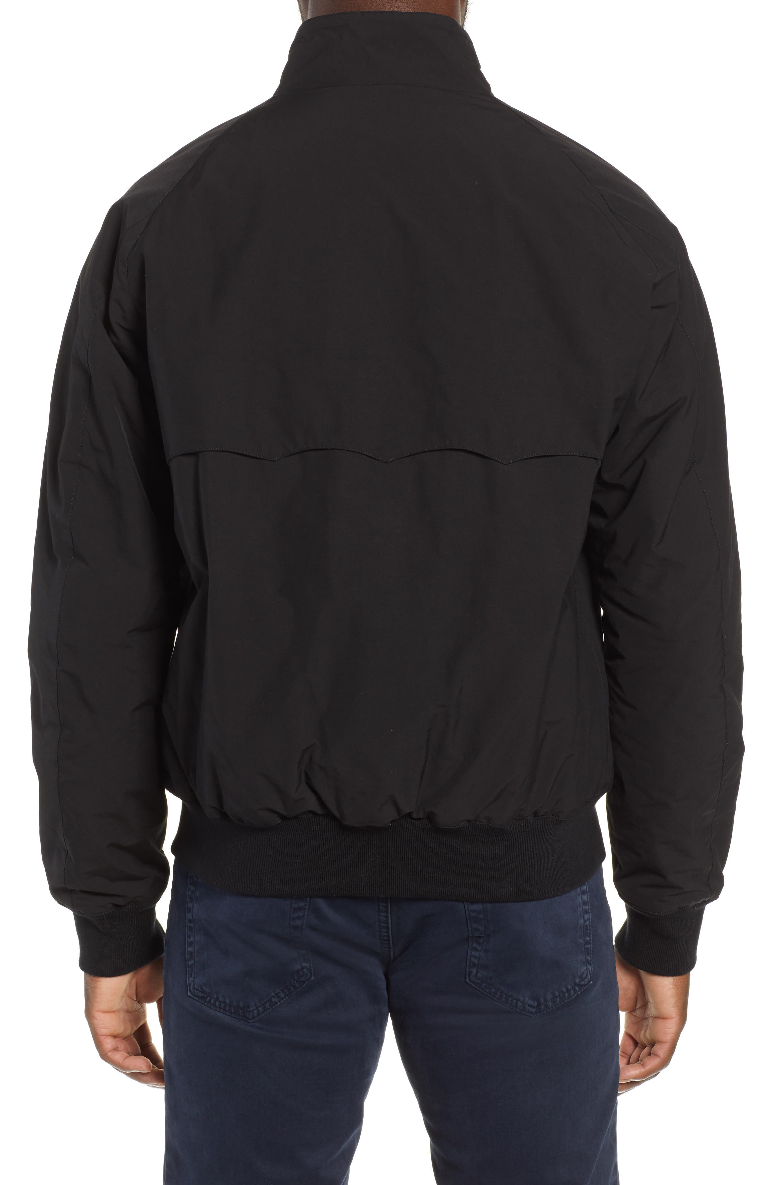G9 Water Resistant Harrington Jacket,                             Alternate thumbnail 2, color,                             BLACK