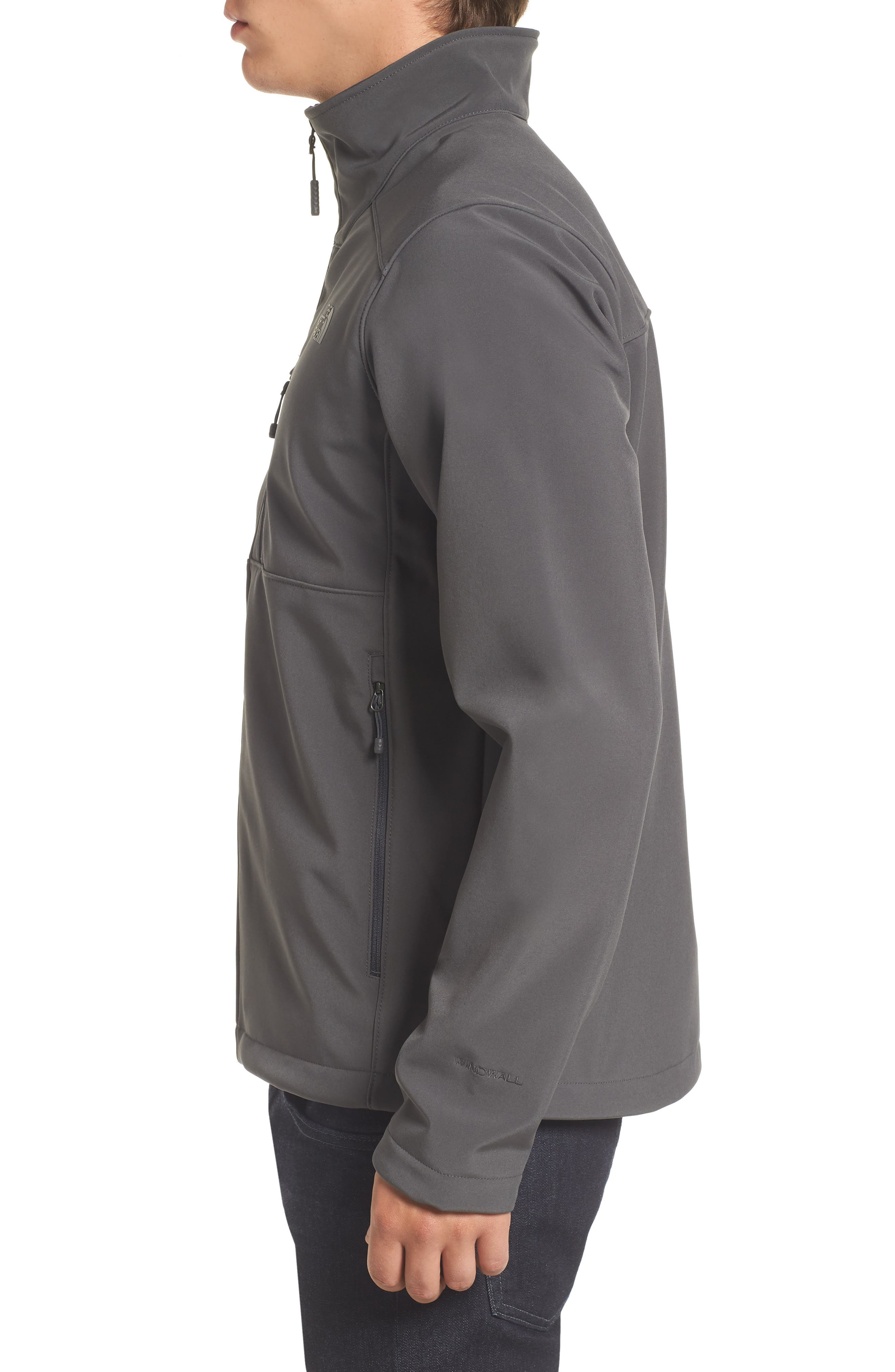 'Apex Bionic 2' Windproof & Water Resistant Soft Shell Jacket,                             Alternate thumbnail 3, color,                             ASPHALT GREY/ASPHALT GREY