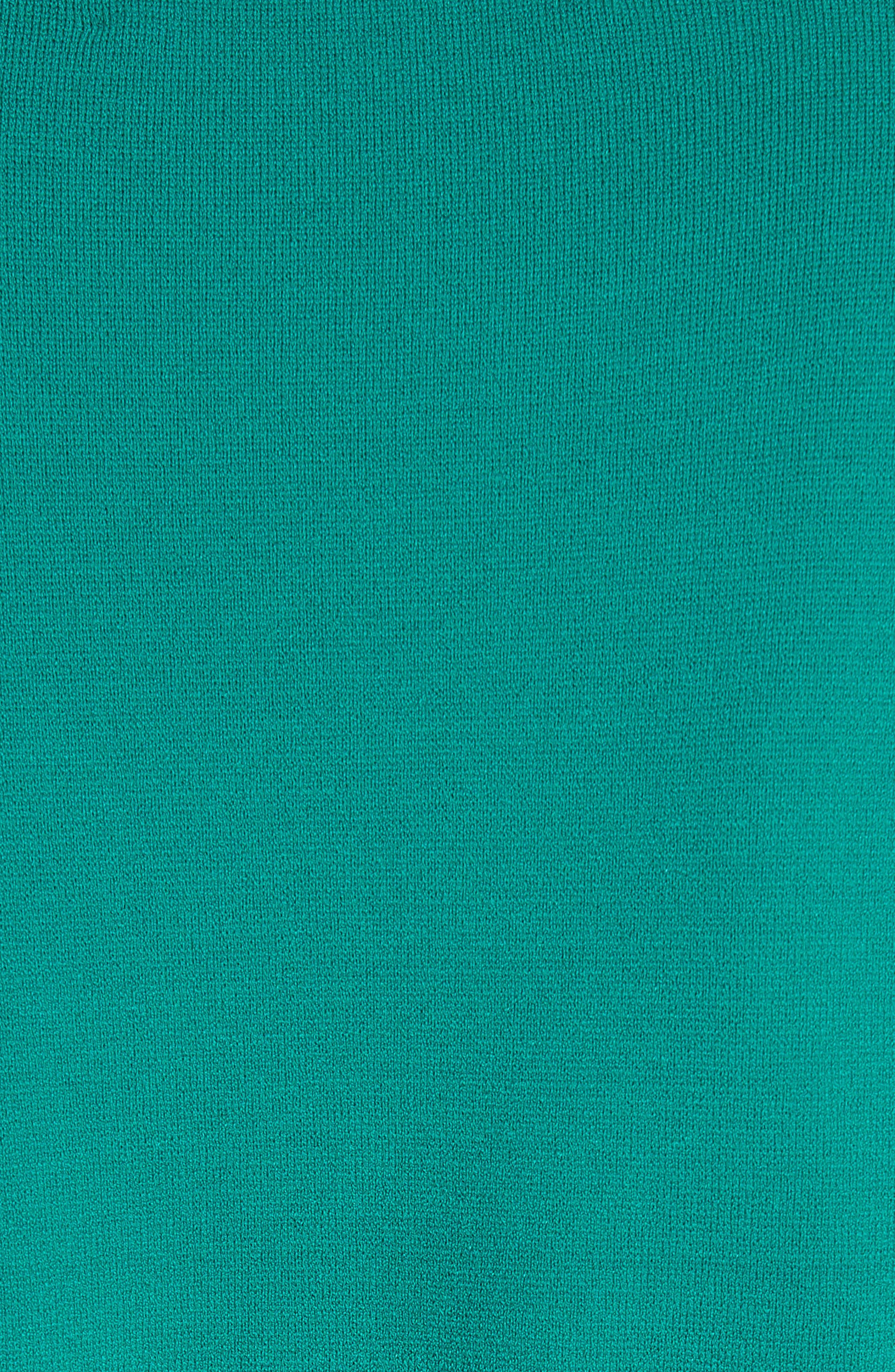 Diane von Furstenberg Knit Wrap Top,                             Alternate thumbnail 5, color,                             340