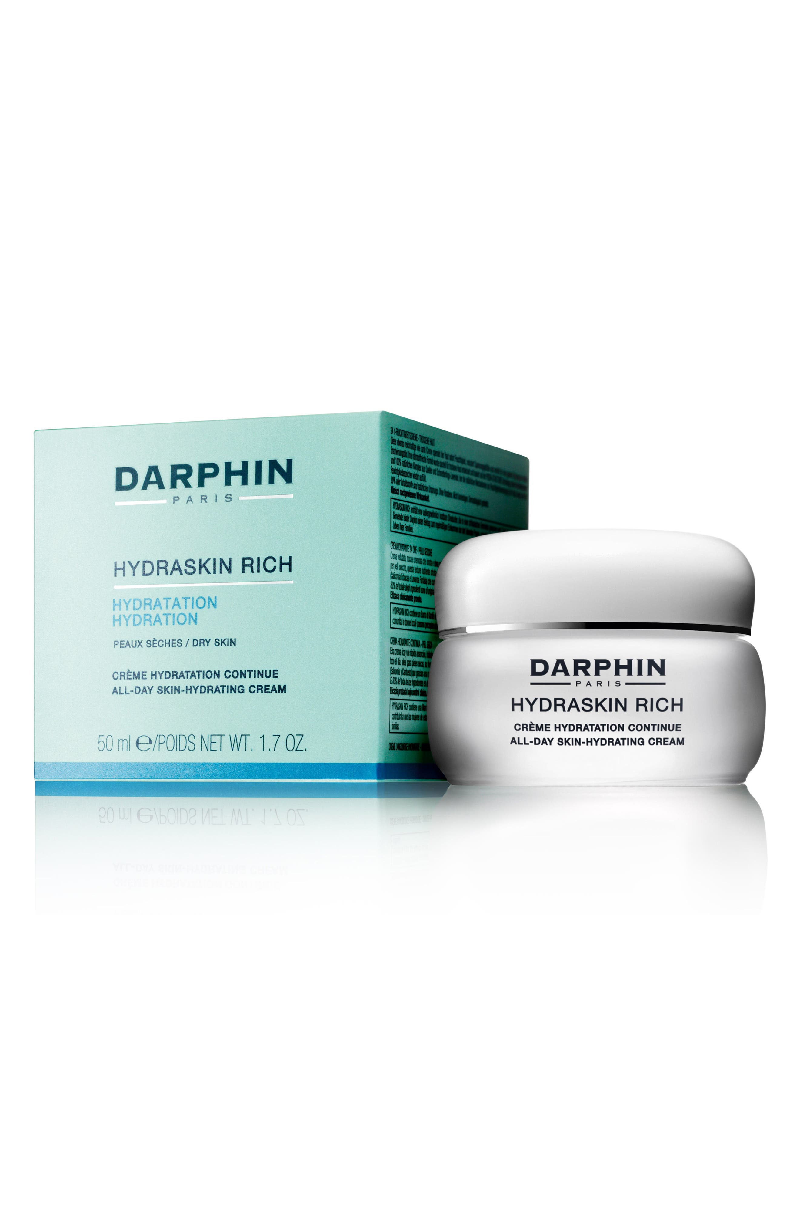 Hydraskin Rich All-Day Skin Hydrating Cream,                             Alternate thumbnail 4, color,                             NO COLOR