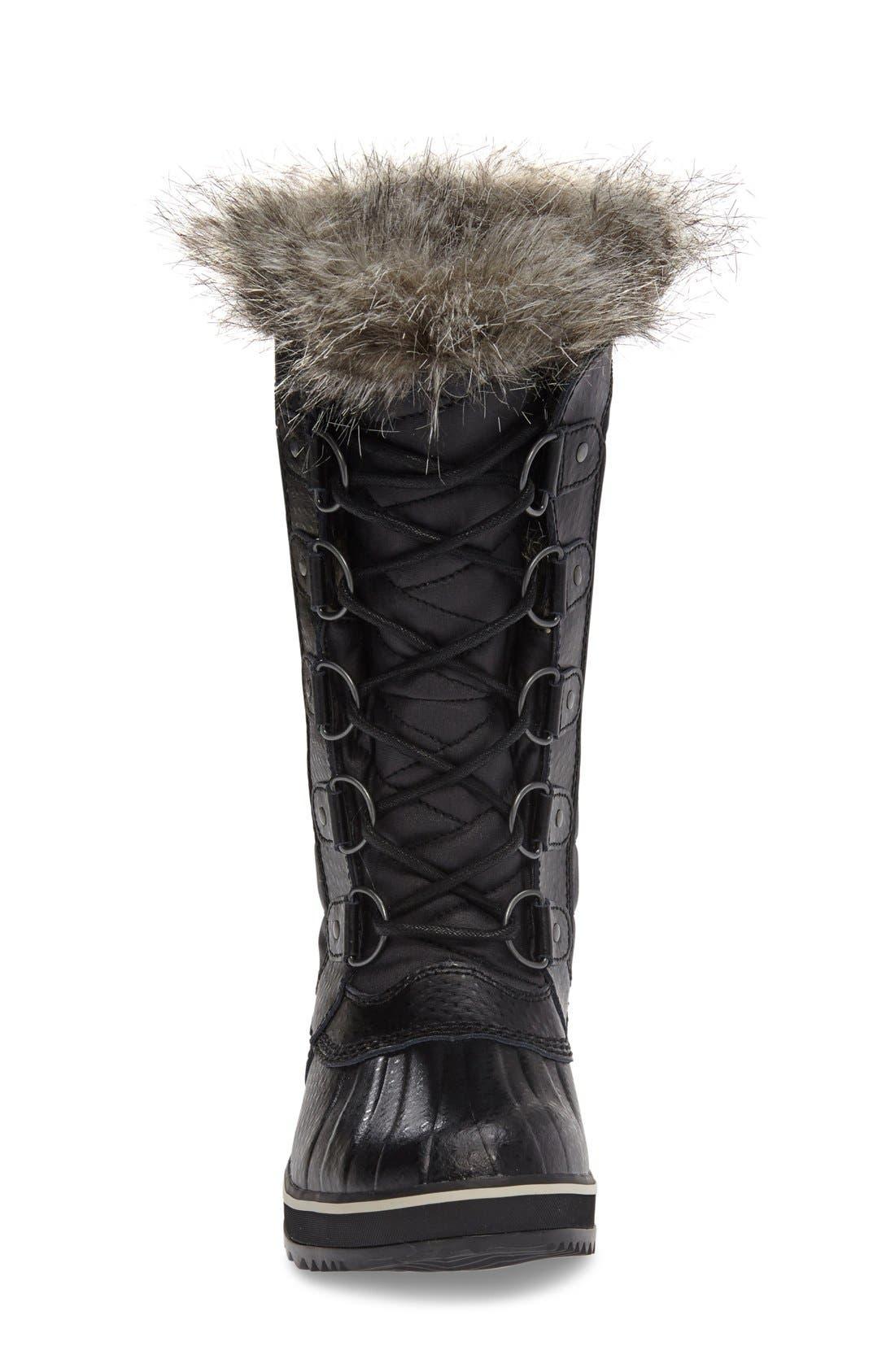 'Tofino II' Faux Fur Lined Waterproof Boot,                             Alternate thumbnail 2, color,                             BLACK
