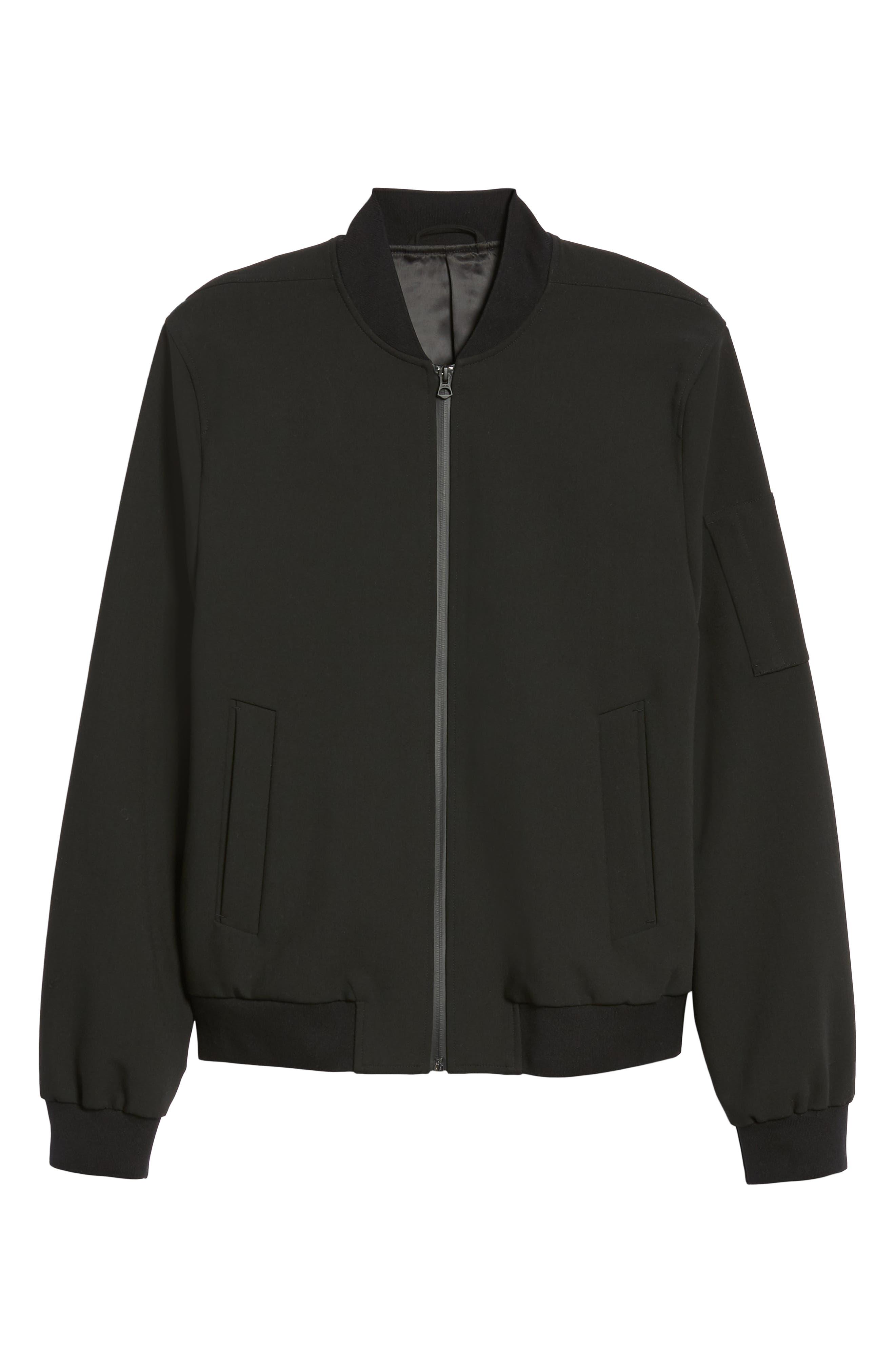 Regular Fit Bomber Jacket,                             Alternate thumbnail 5, color,                             001