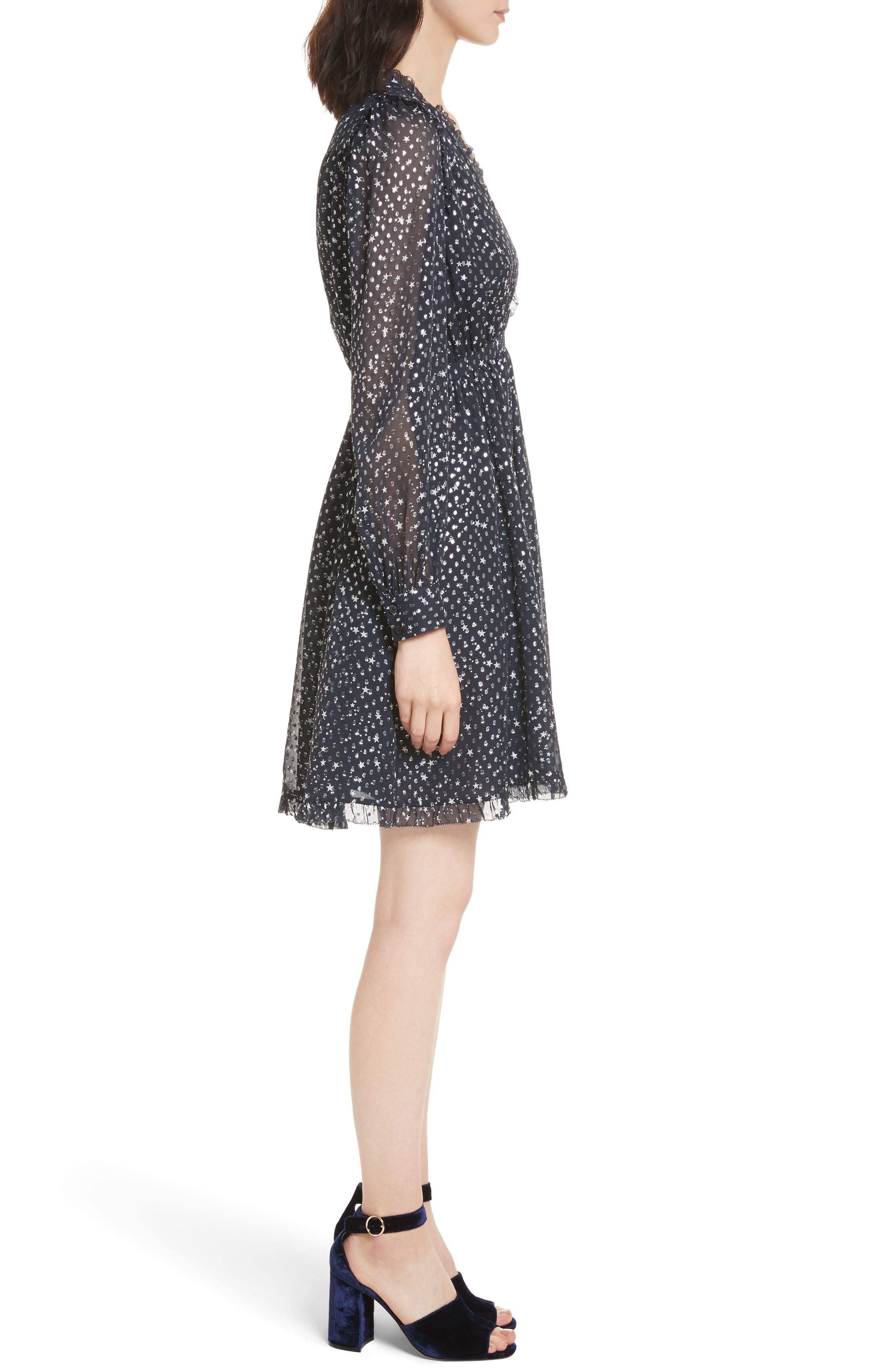 night sky dot dress,                             Alternate thumbnail 3, color,                             473