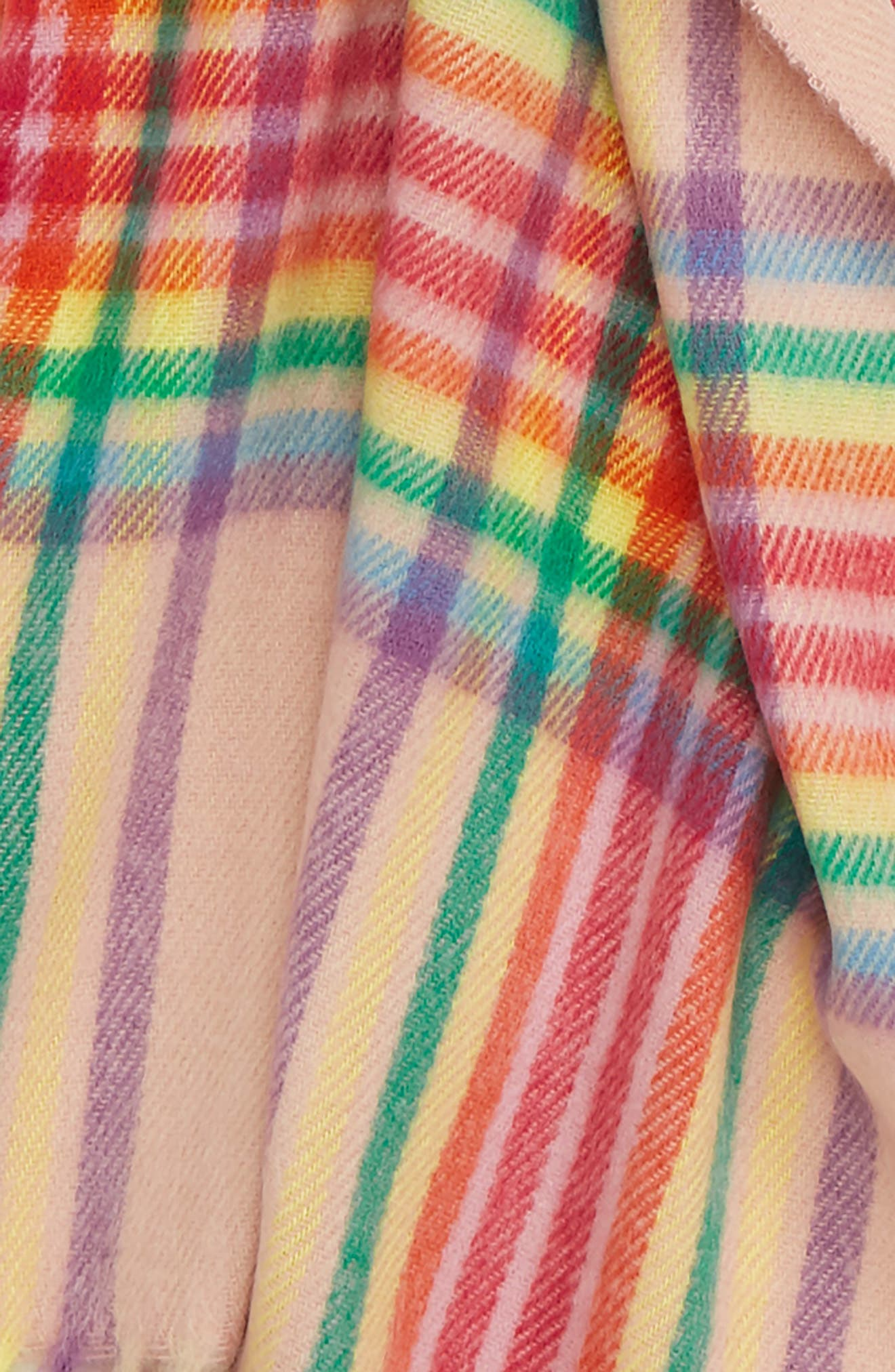 Check Scarf,                             Alternate thumbnail 3, color,                             PINK MULTI