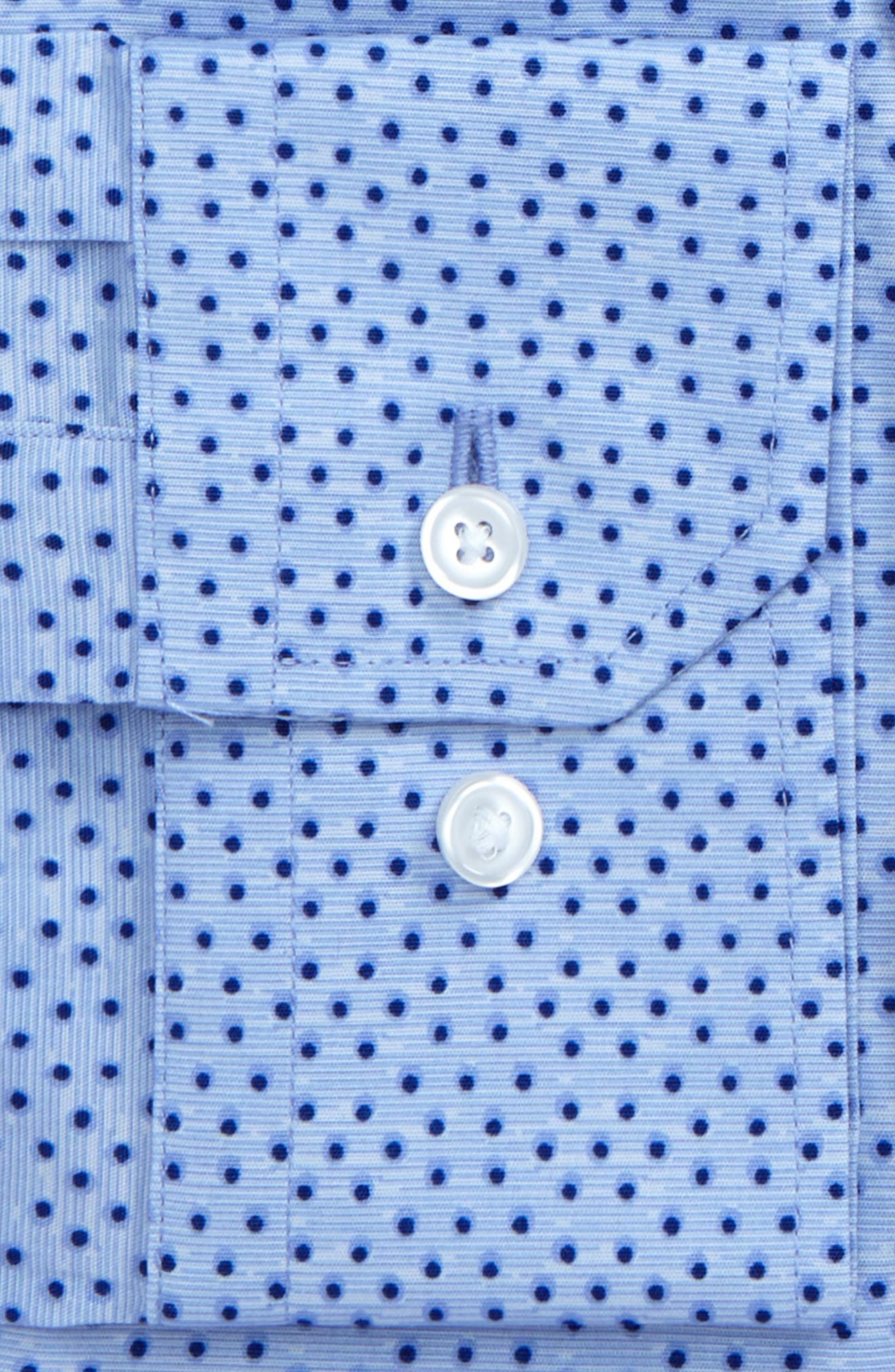 Trim Fit Dot Print Dress Shirt,                             Alternate thumbnail 2, color,                             450