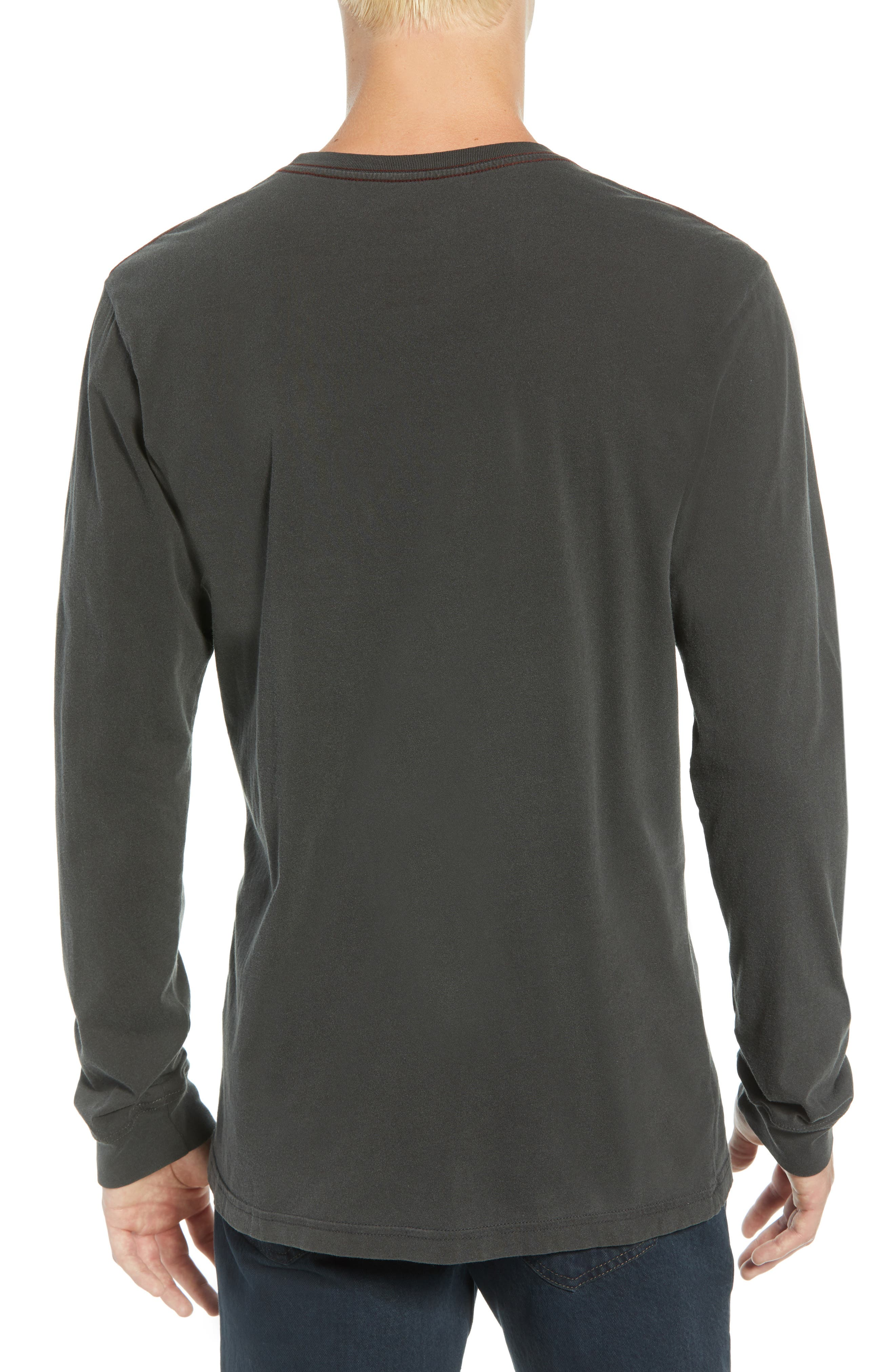 PTC Pigment Long Sleeve T-Shirt,                             Alternate thumbnail 2, color,                             PIRATE BLACK