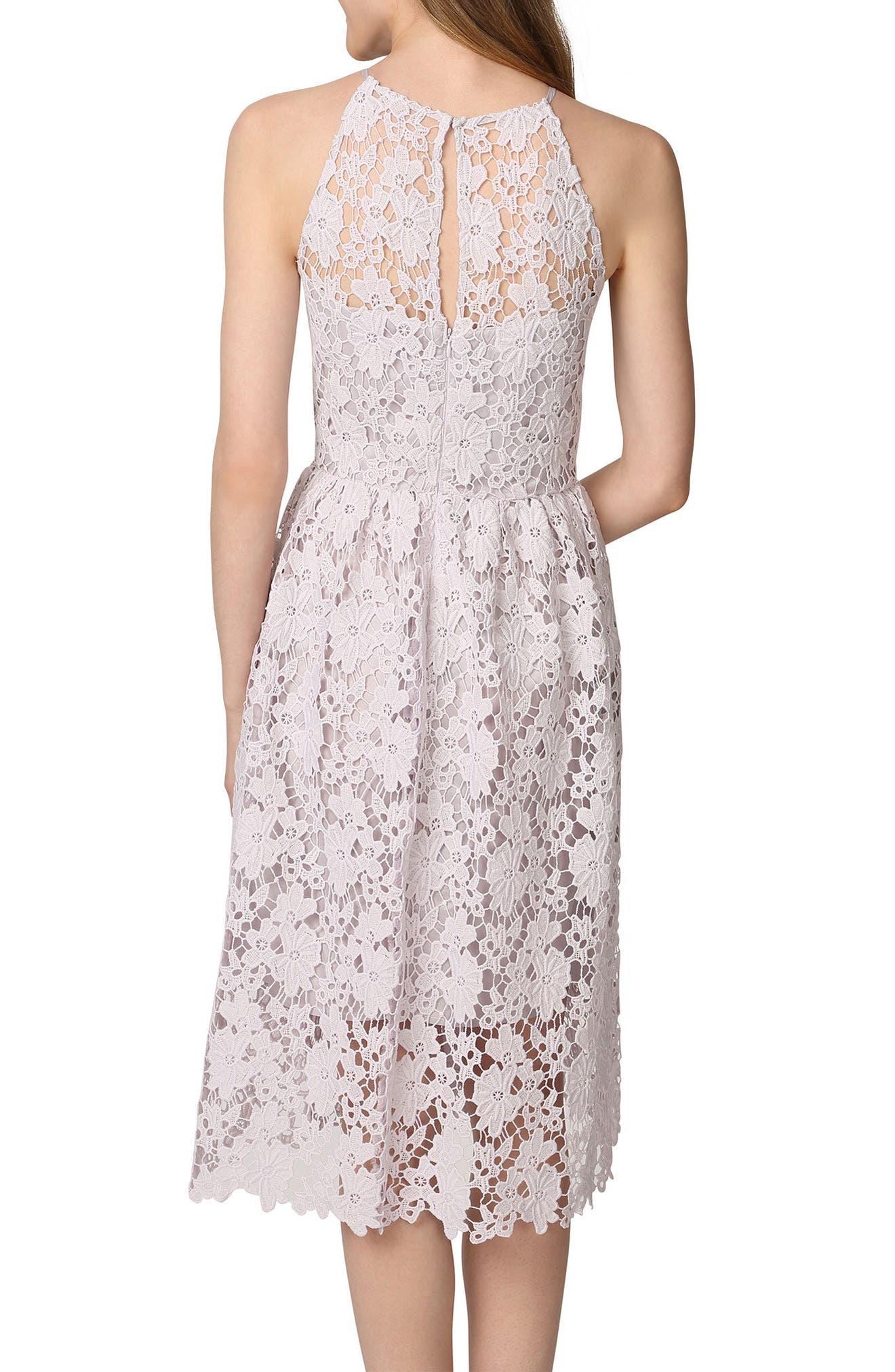 Chemical Lace Fit & Flare Midi Dress,                             Alternate thumbnail 2, color,                             450