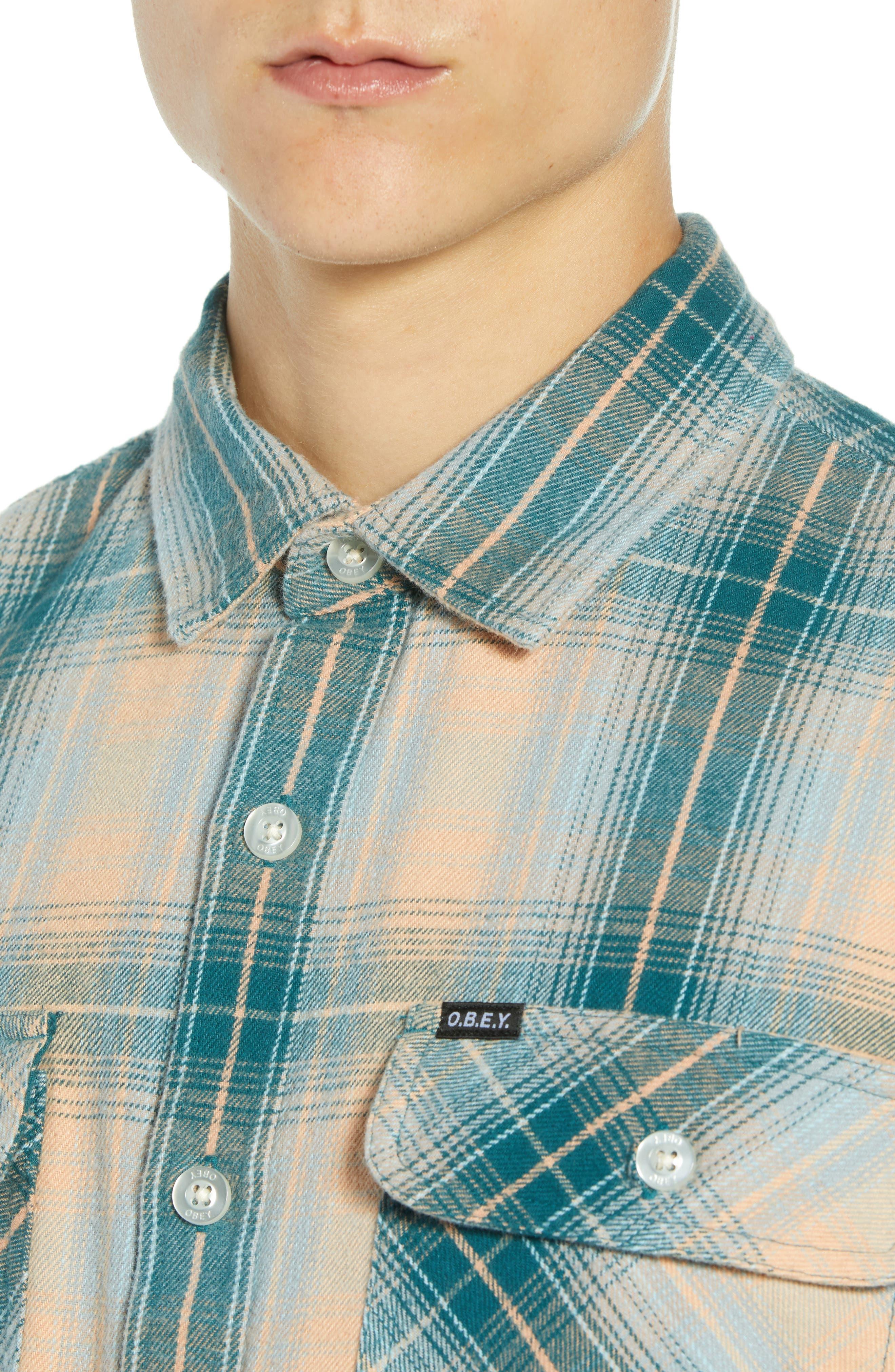 Continental Plaid Flannel Shirt,                             Alternate thumbnail 2, color,                             PINE MULTI