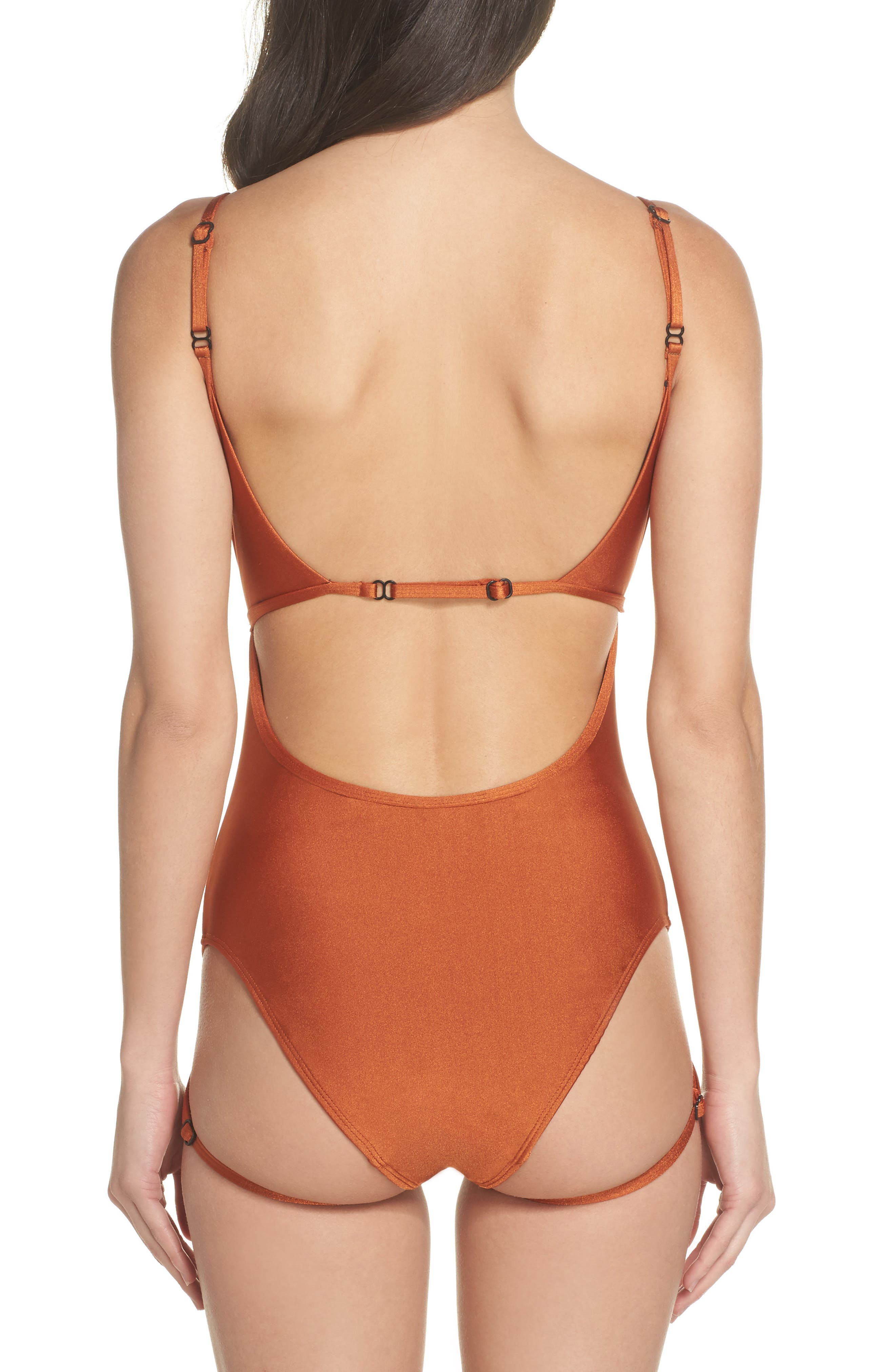 Strata One-Piece Swimsuit,                             Alternate thumbnail 3, color,                             800