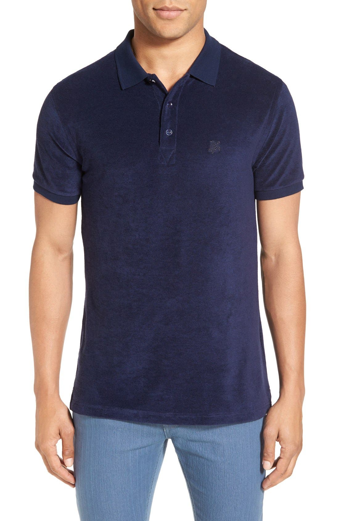 Terry Polo,                         Main,                         color, NAVY BLUE