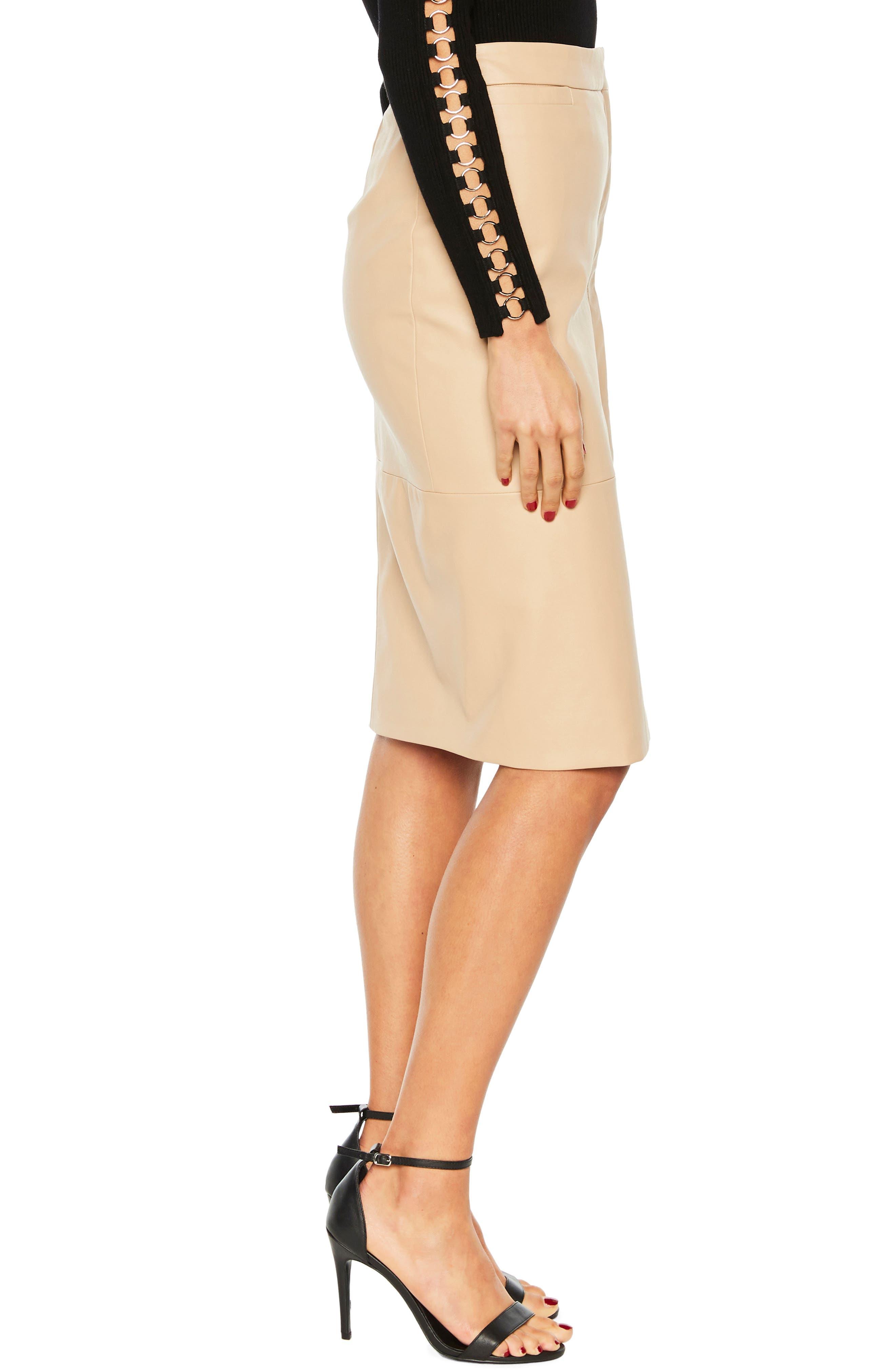Dee Faux Leather Pencil Skirt,                             Alternate thumbnail 3, color,                             250