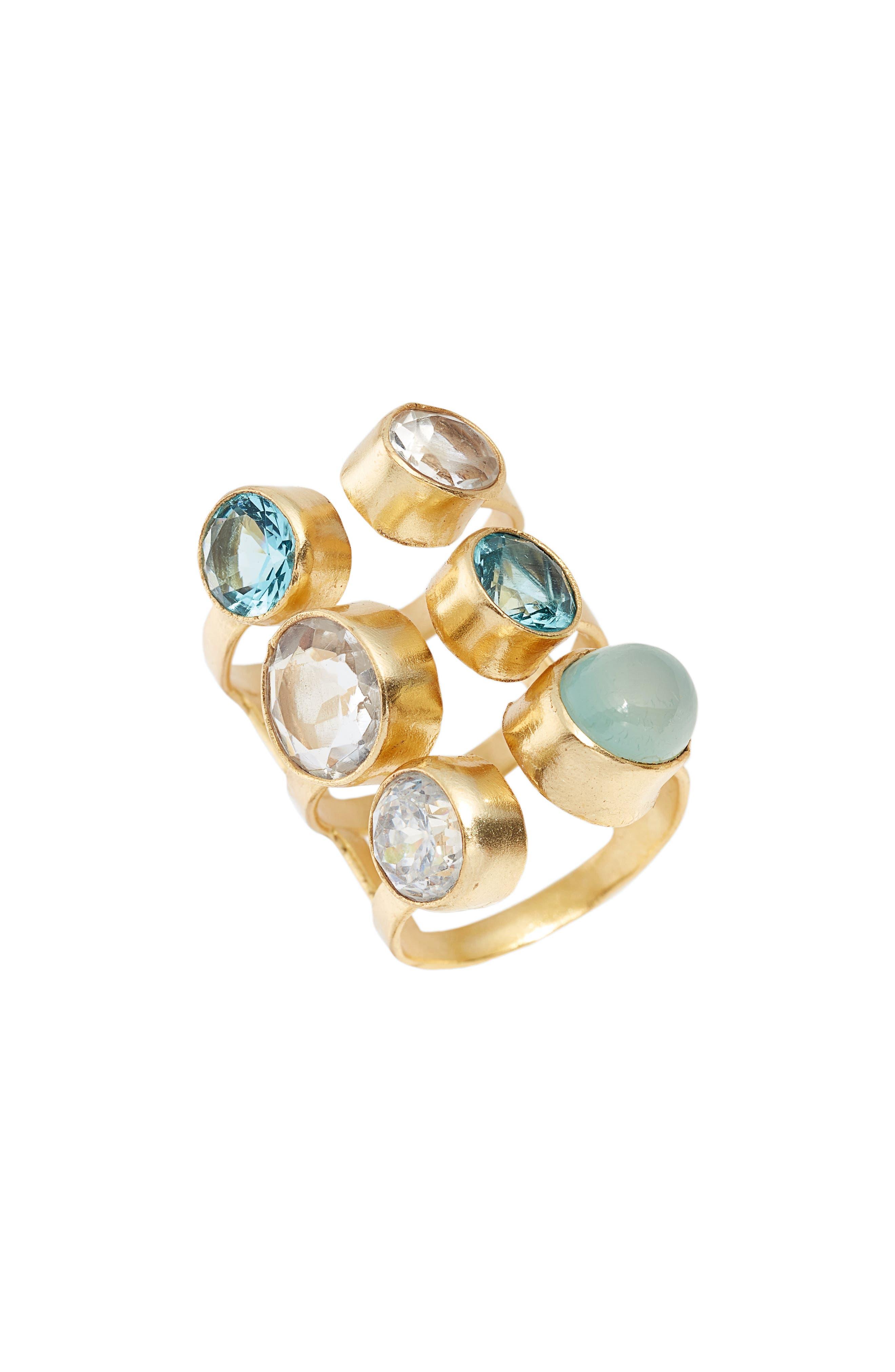 Dani Semiprecious Stone Ring,                         Main,                         color, GOLD