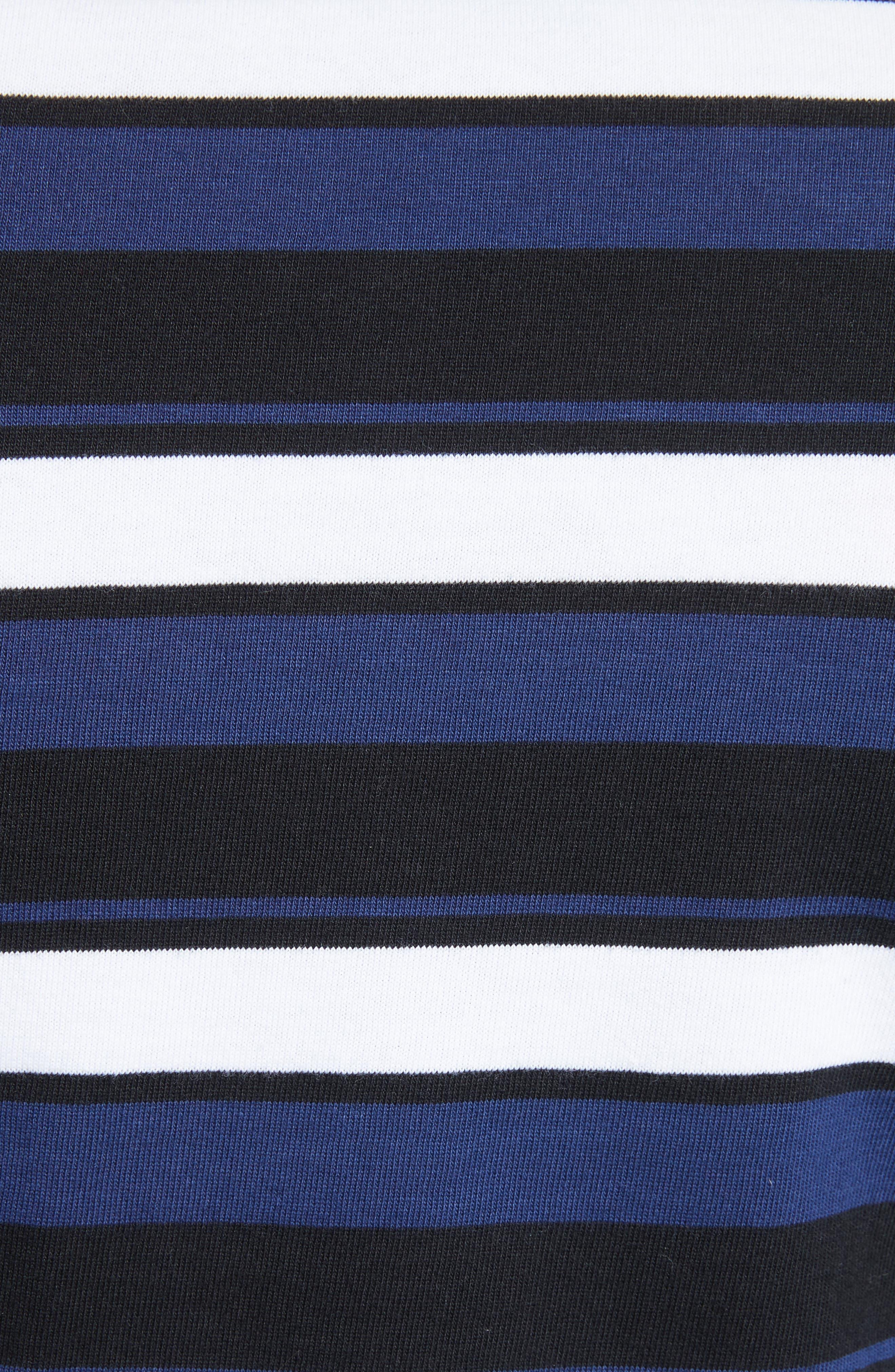 Stripe Crop Tee,                             Alternate thumbnail 5, color,                             003