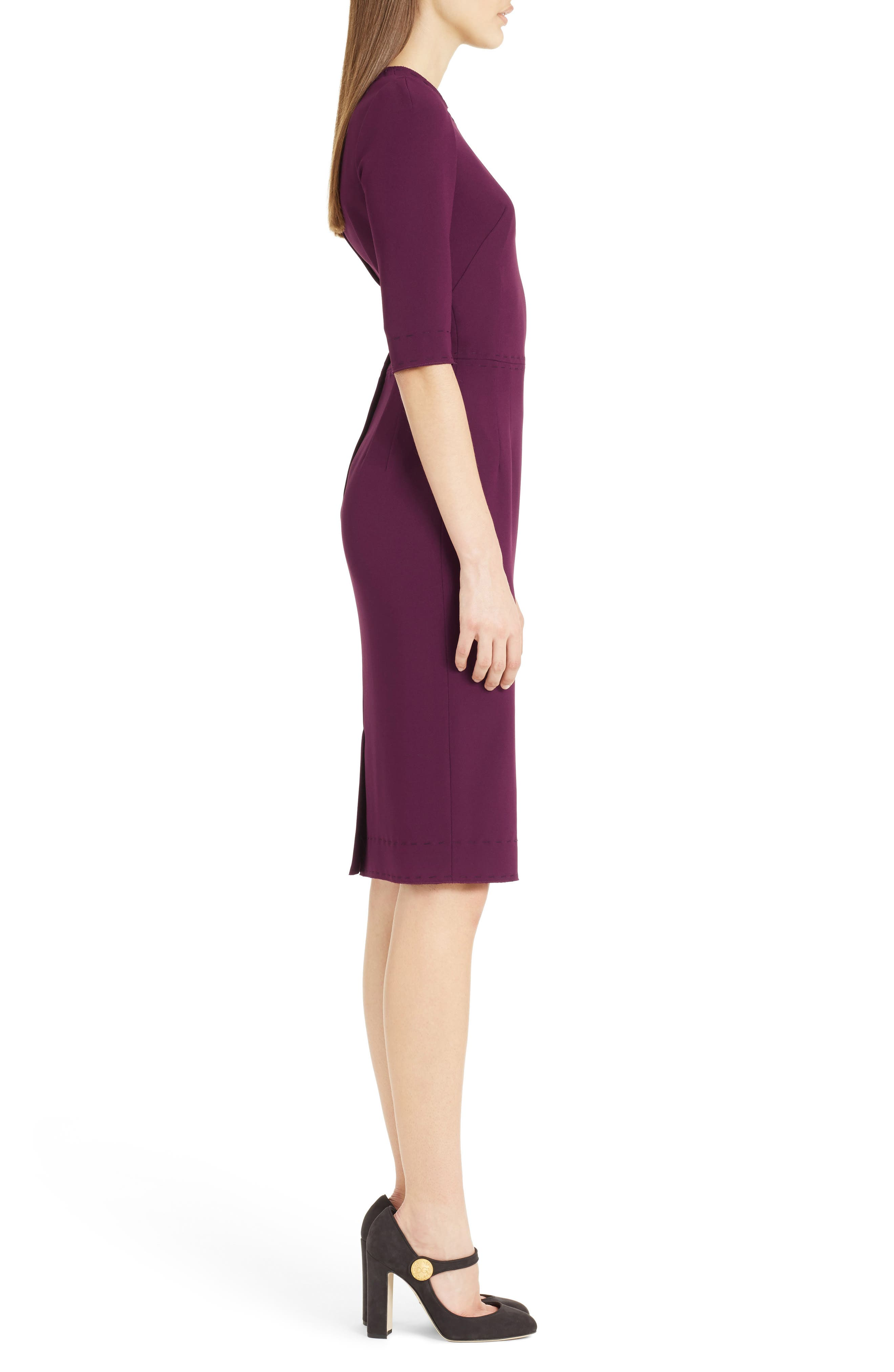 Stretch Cady Sheath Dress,                             Alternate thumbnail 6, color,