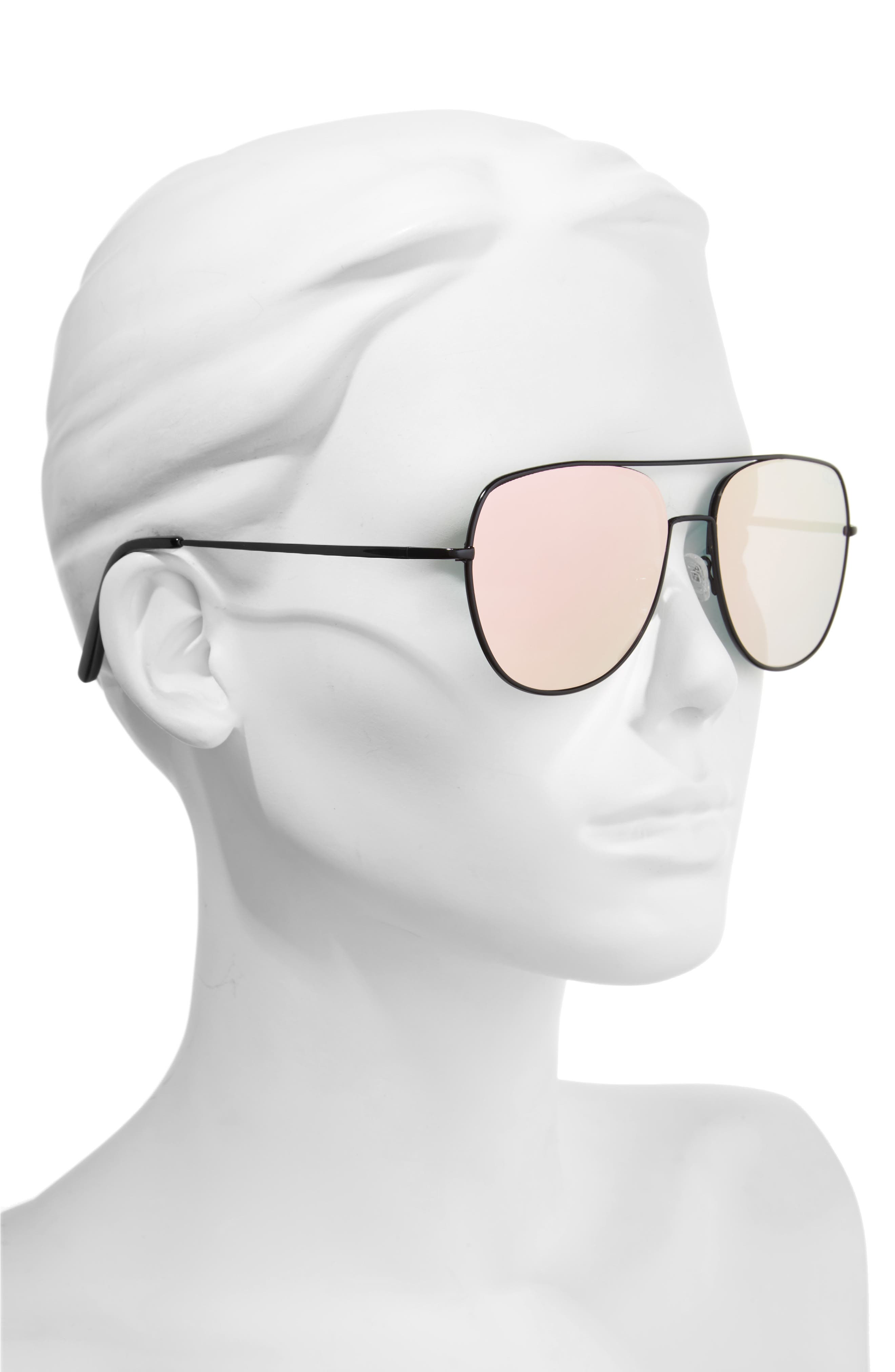 Living Large 60mm Mirrored Aviator Sunglasses,                             Alternate thumbnail 2, color,                             001