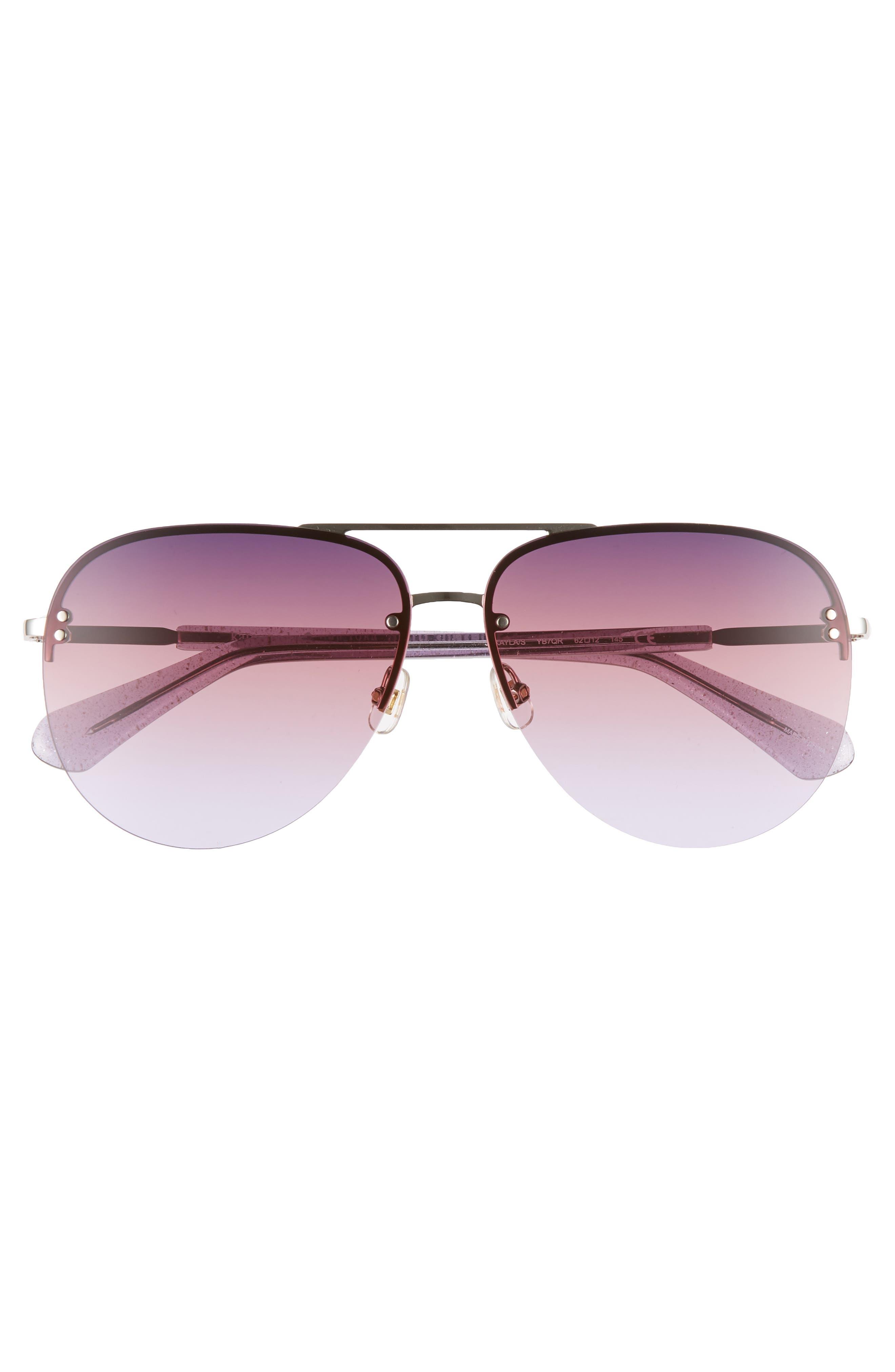 jakaylas 62mm aviator sunglasses,                             Alternate thumbnail 3, color,                             SILVER