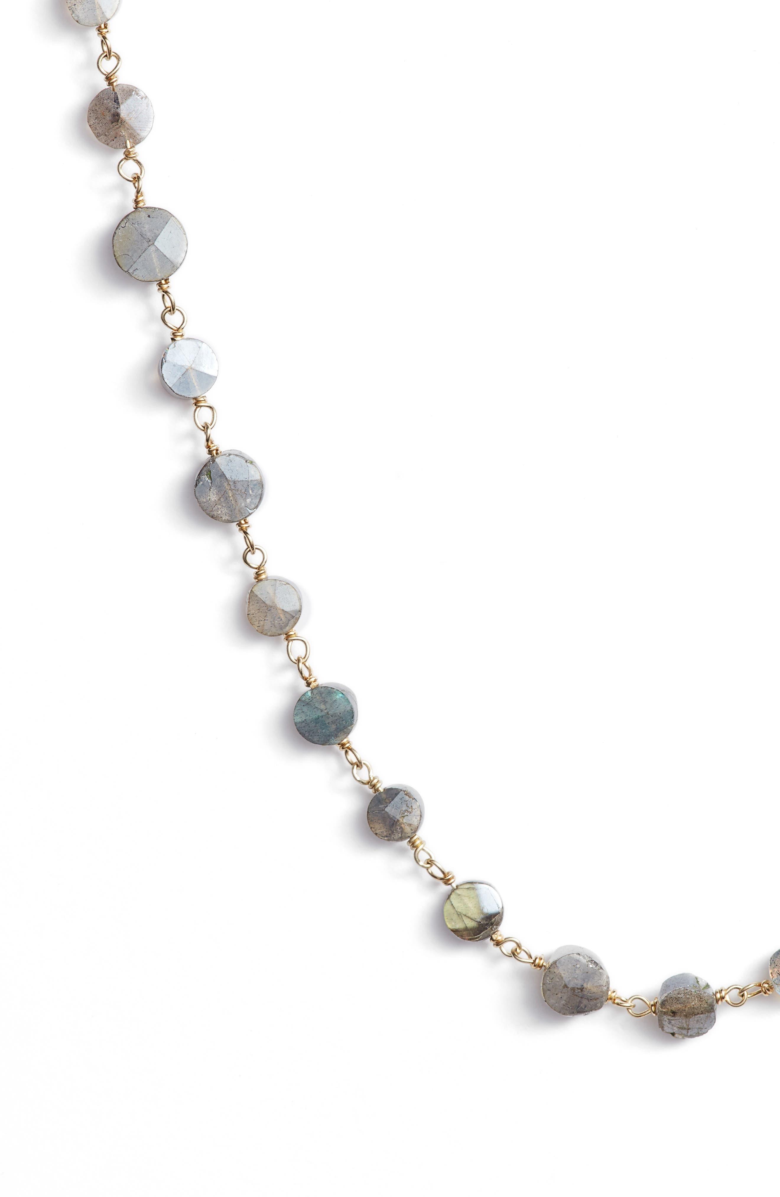 Diana Coin Necklace,                             Alternate thumbnail 2, color,                             MYSTIC LABRADORITE/ GOLD