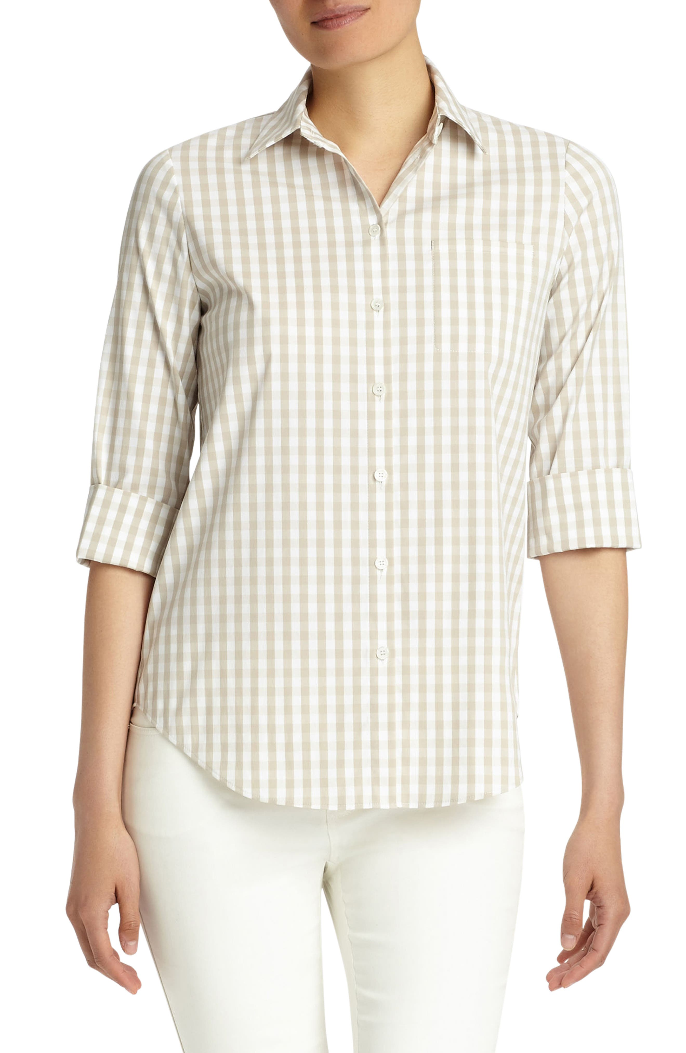 Paget Gingham Blouse,                         Main,                         color, 200
