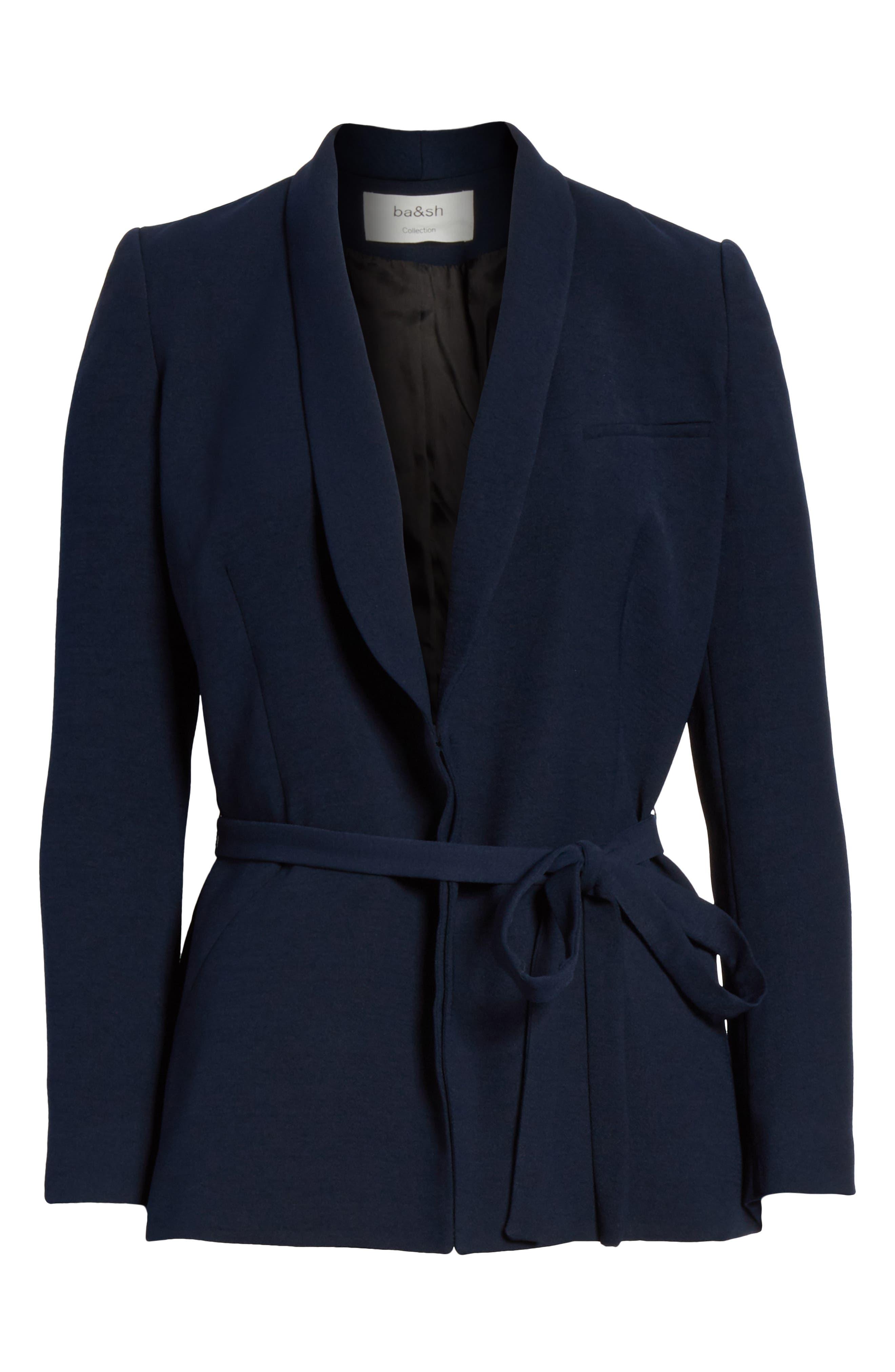 Padova Belted Jacket,                             Alternate thumbnail 5, color,                             NUIT