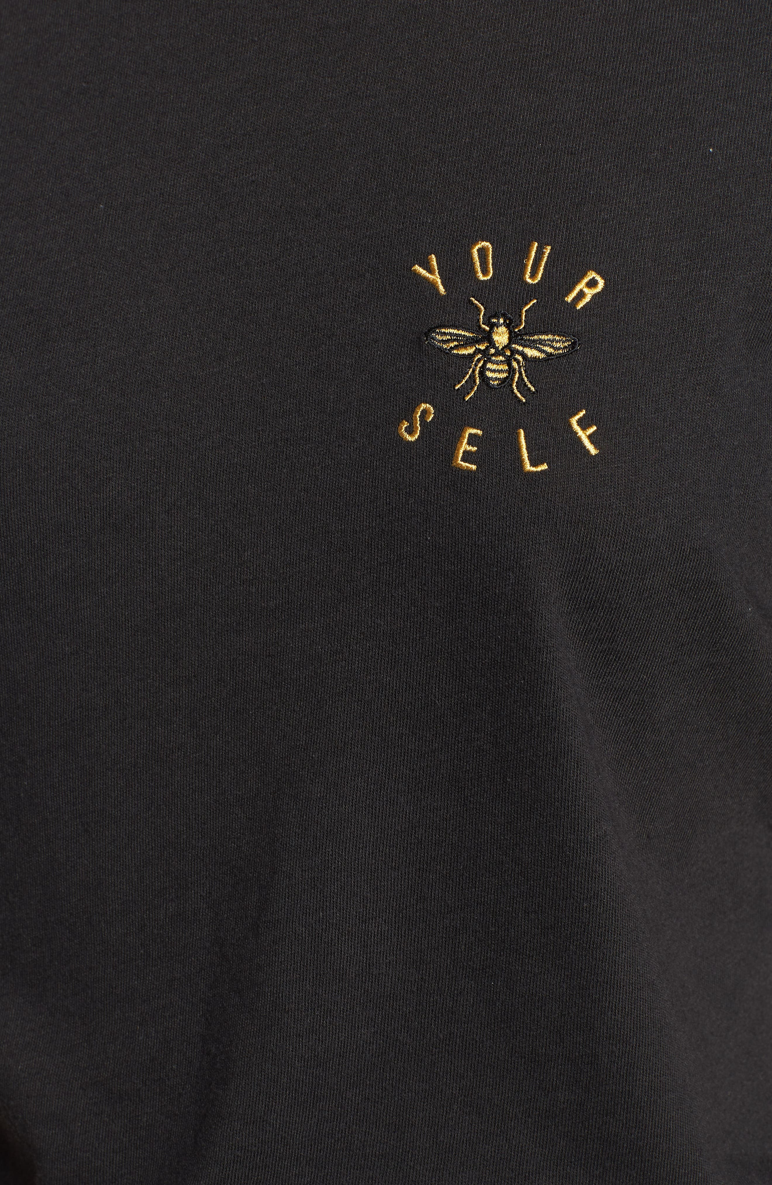 Bee Yourself Slouched Tee,                             Alternate thumbnail 5, color,                             BLACK