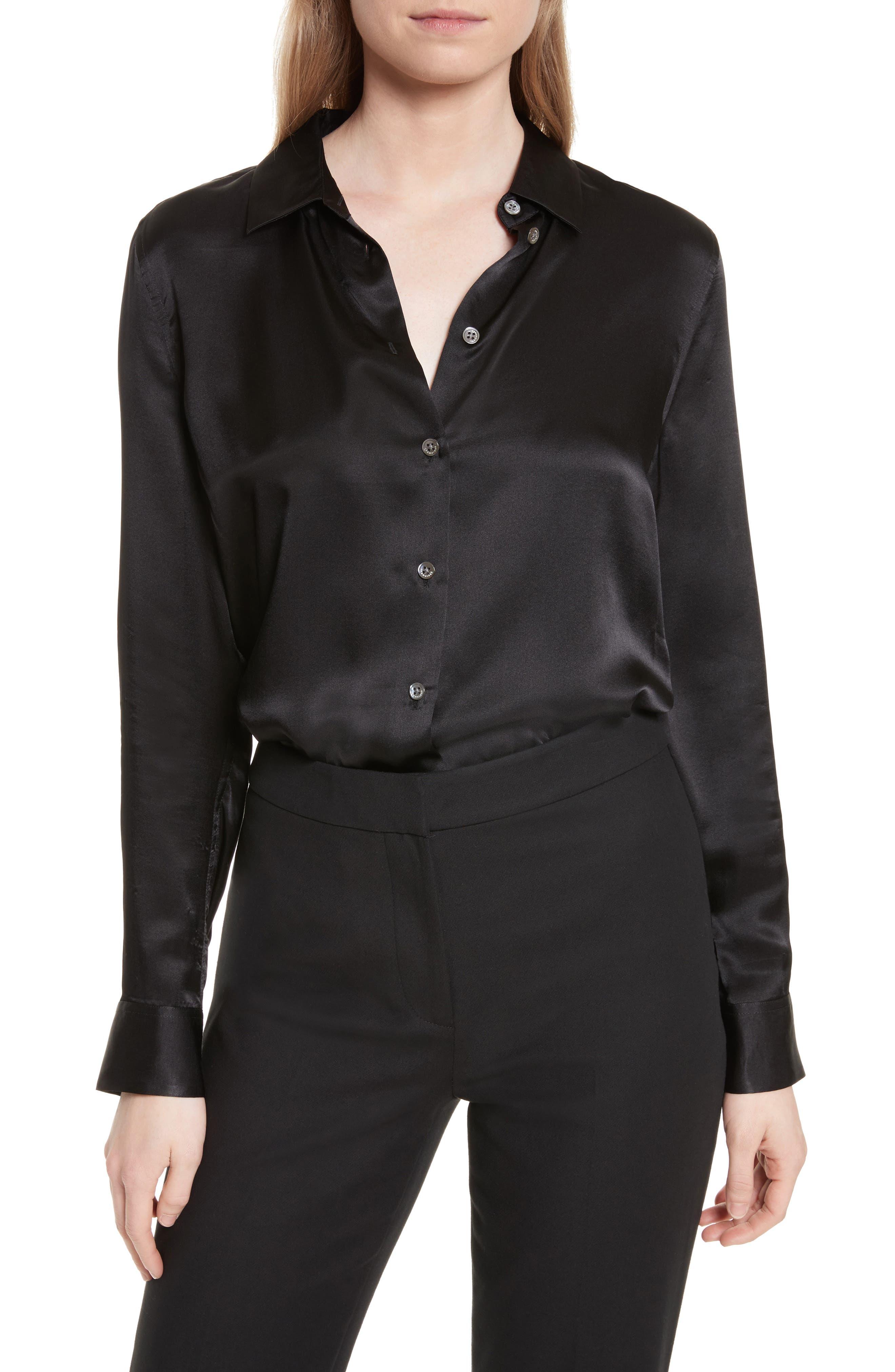 Essential Silk Top,                         Main,                         color, 003