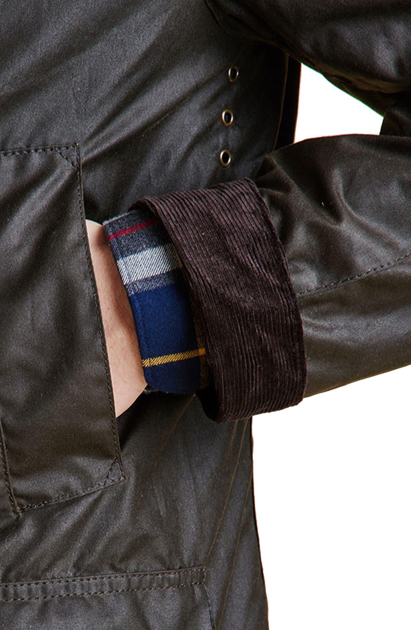 Ashby Wax Jacket,                             Alternate thumbnail 8, color,                             OLIVE