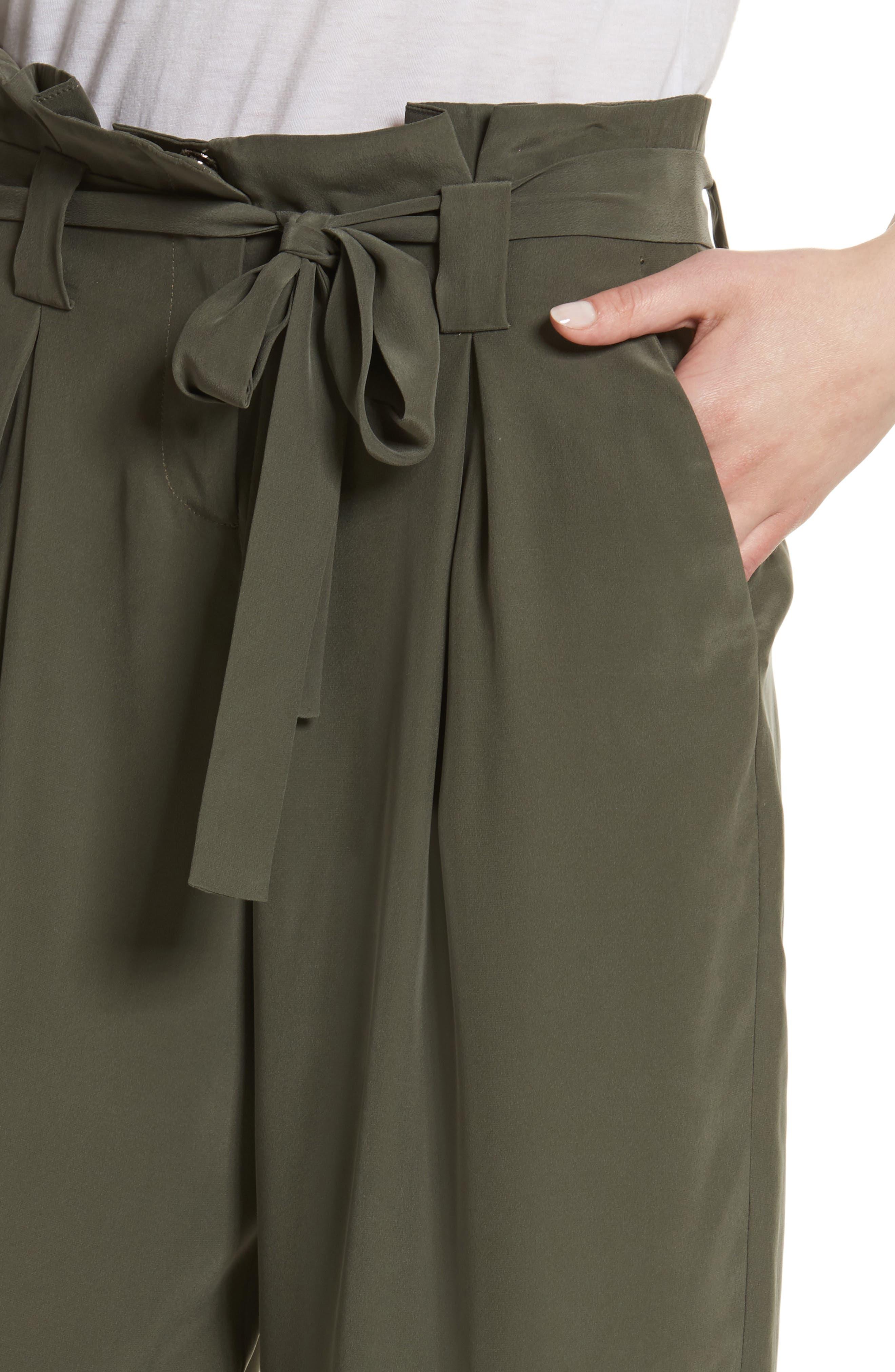 Samira Paperbag Wide Leg Pants,                             Alternate thumbnail 4, color,                             300