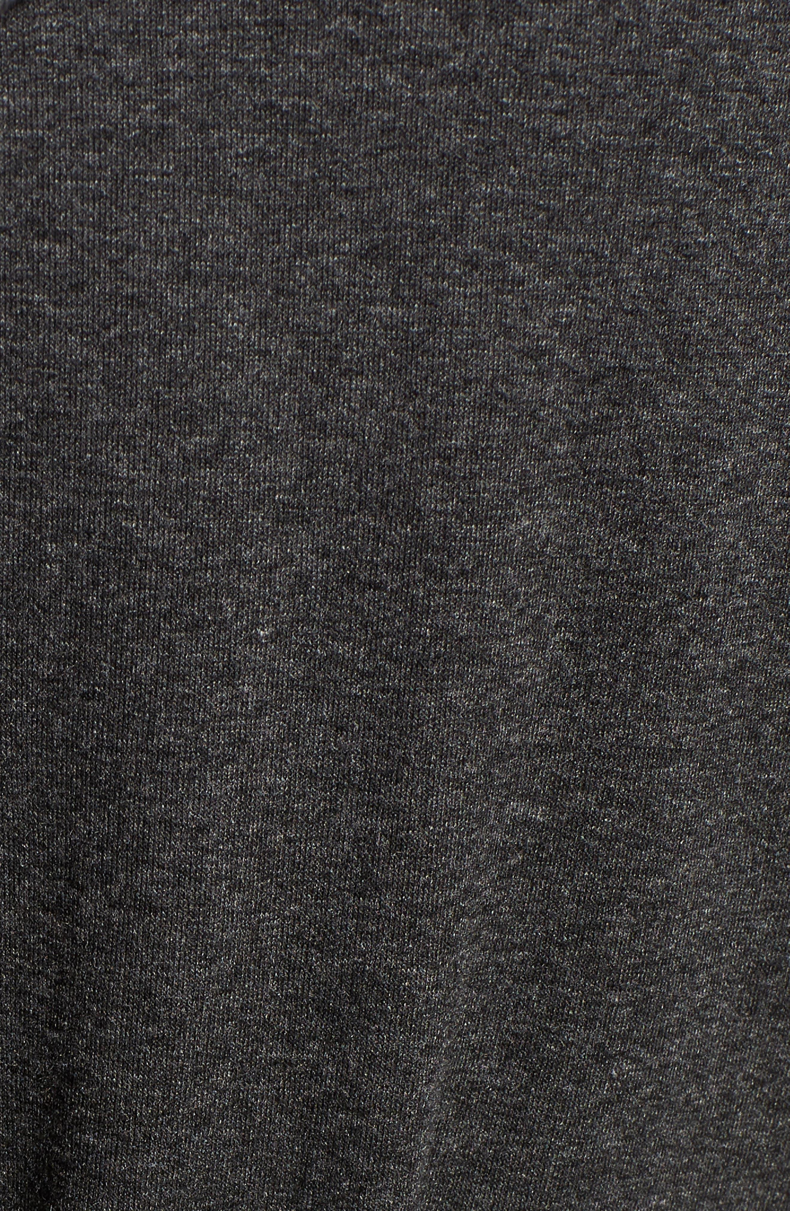Draped Hooded Cardigan,                             Alternate thumbnail 6, color,                             CHARCOAL