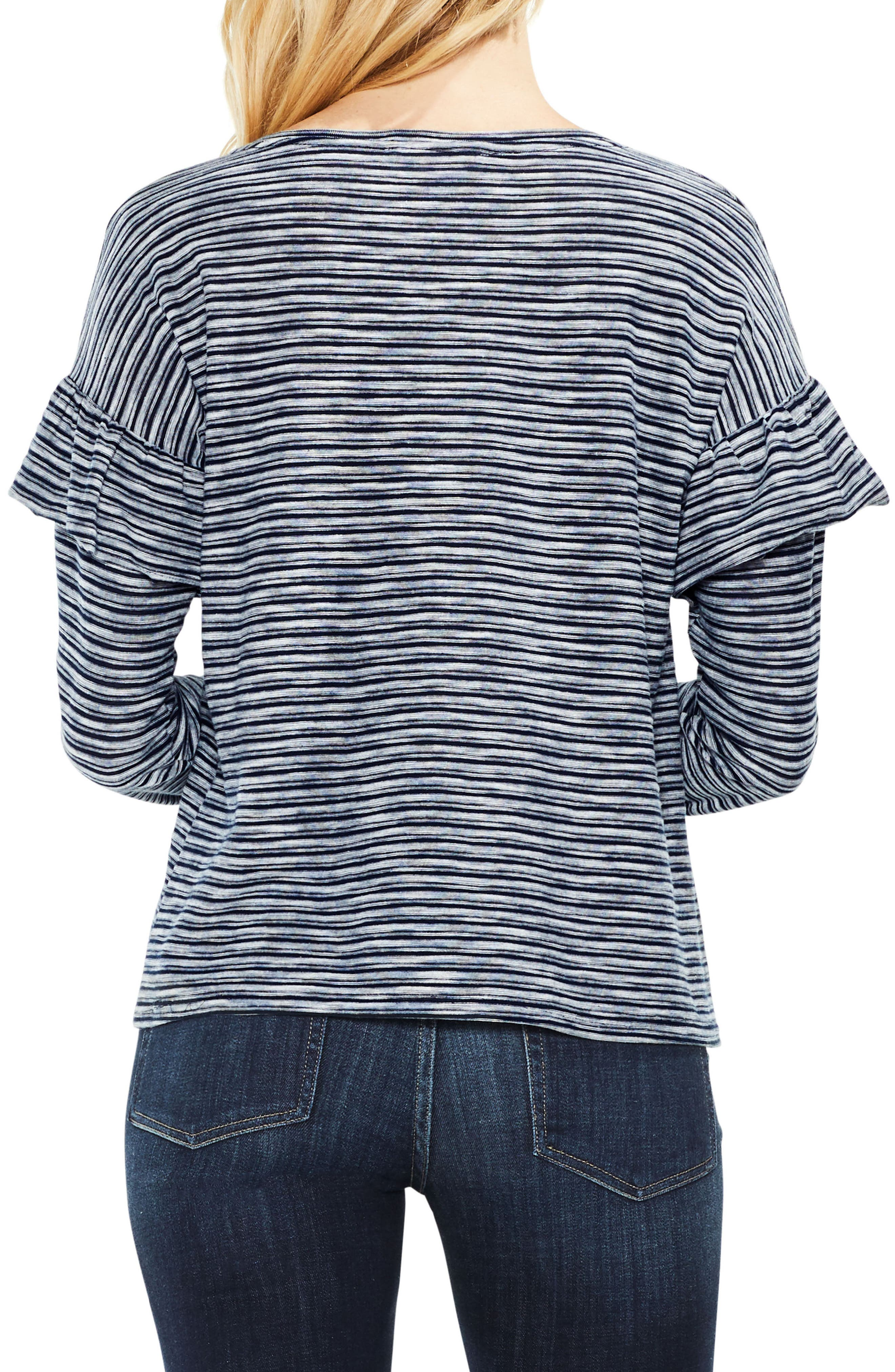 Long Sleeve Ruffle Shoulder Top,                             Alternate thumbnail 2, color,                             461