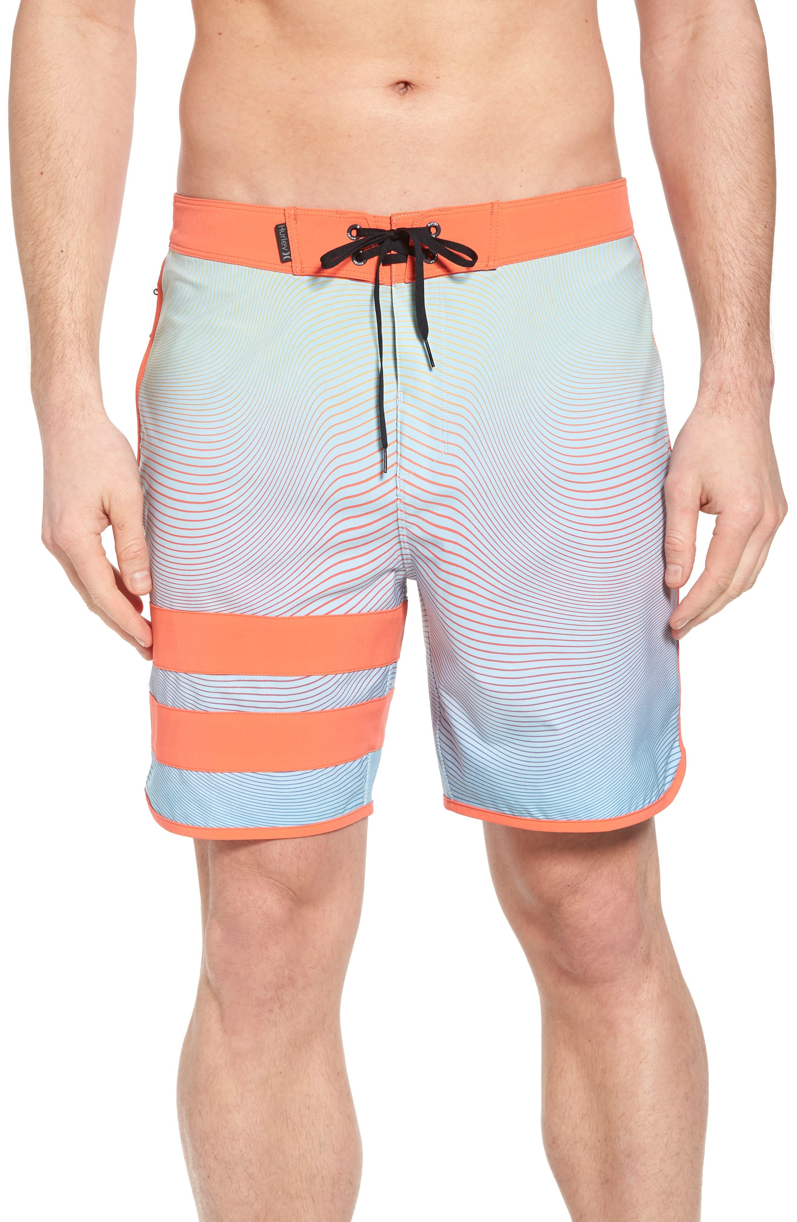 Phantom Static Block Party Board Shorts,                         Main,                         color, OCEAN BLISS