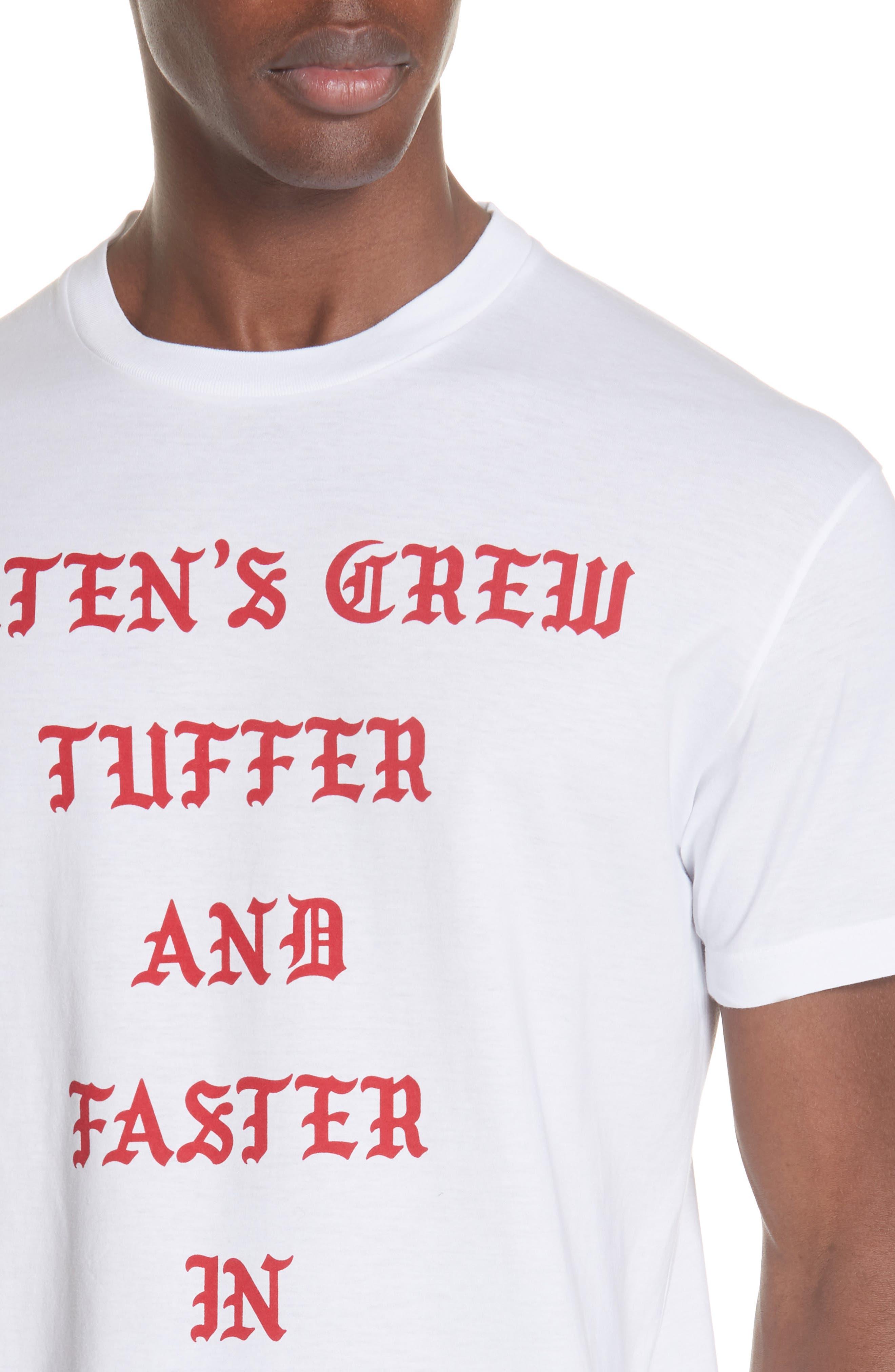 Old English Font T-Shirt,                             Alternate thumbnail 4, color,                             WHITE