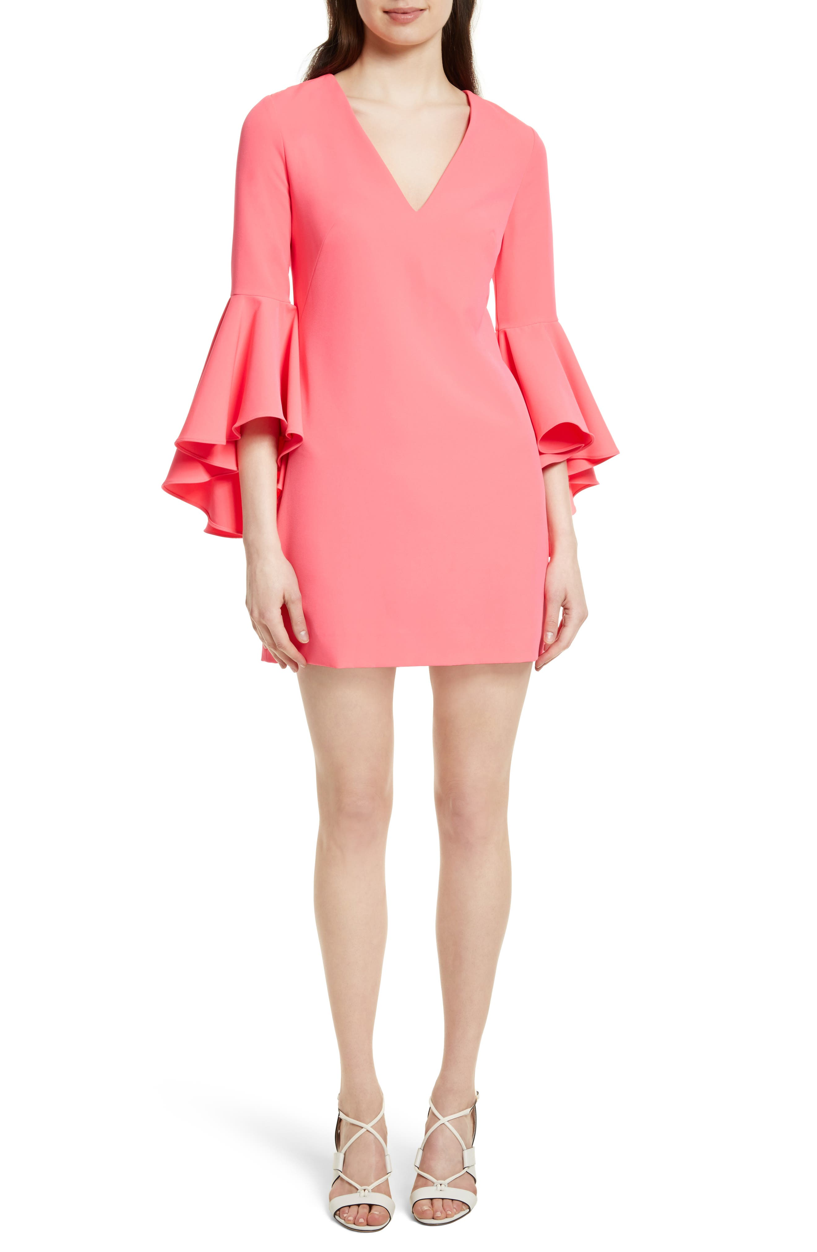 Nicole Bell Sleeve Dress,                             Alternate thumbnail 70, color,