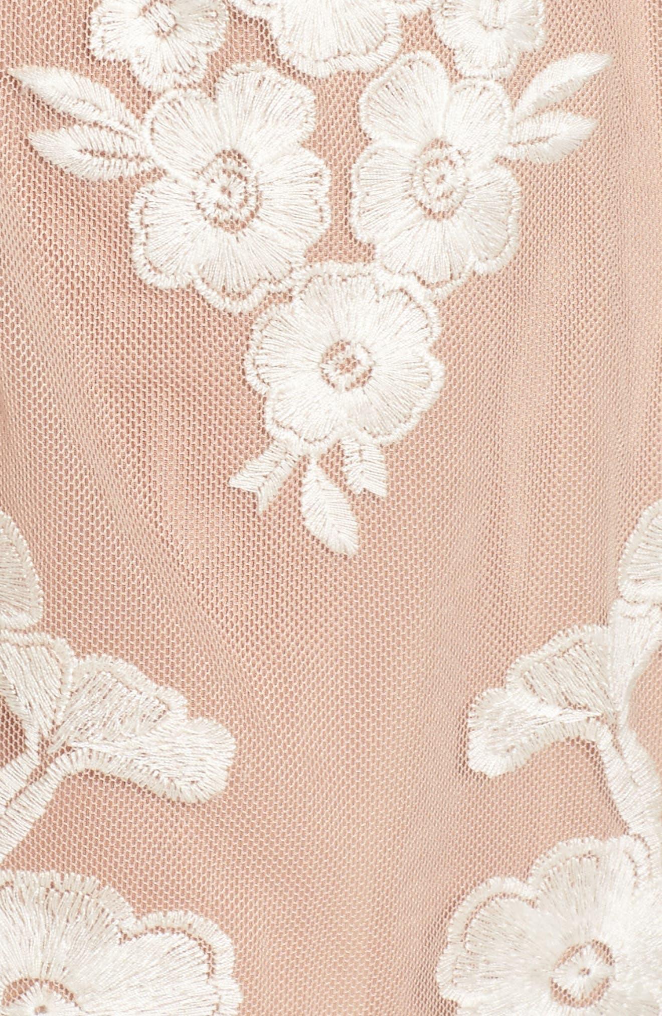 FOR LOVE & LEMONS,                             Temecula Illusion Lace Minidress,                             Alternate thumbnail 5, color,                             902
