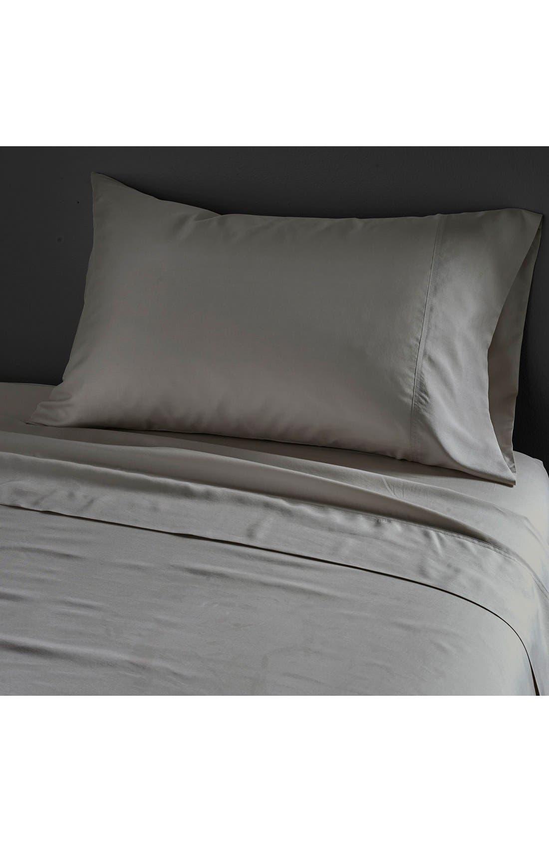 Donna Karan Collection Silk Essential' Habutai Silk Flat Sheet,                             Main thumbnail 1, color,                             020