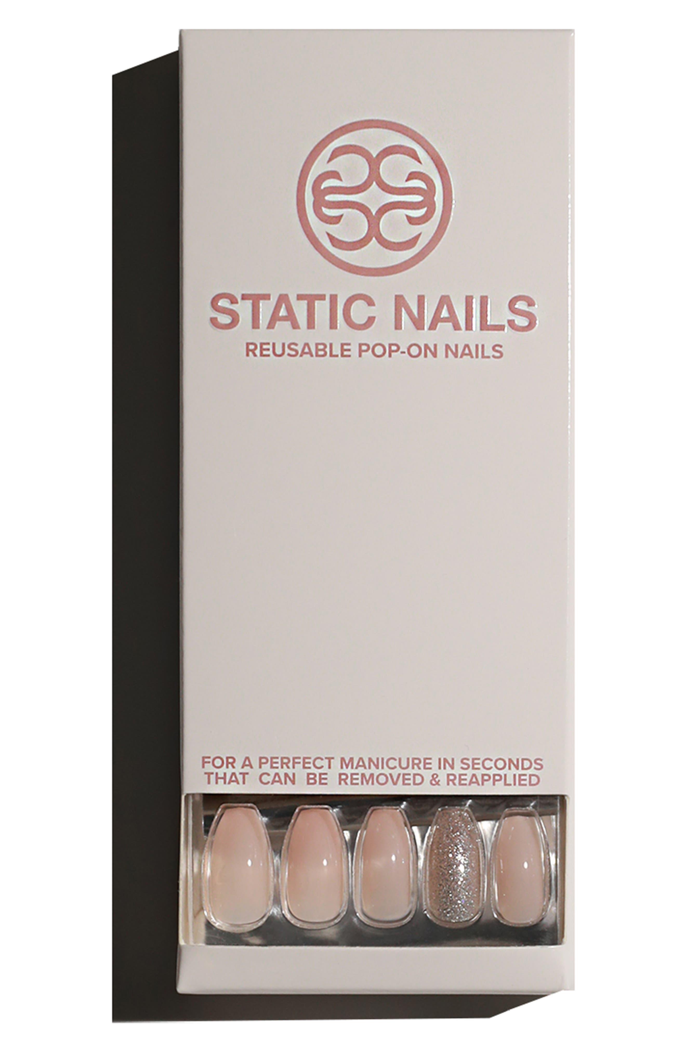 STATIC NAILS,                             Ballet Slippers Pop-On Reusable Manicure Set,                             Alternate thumbnail 2, color,                             BALLET SLIPPERS