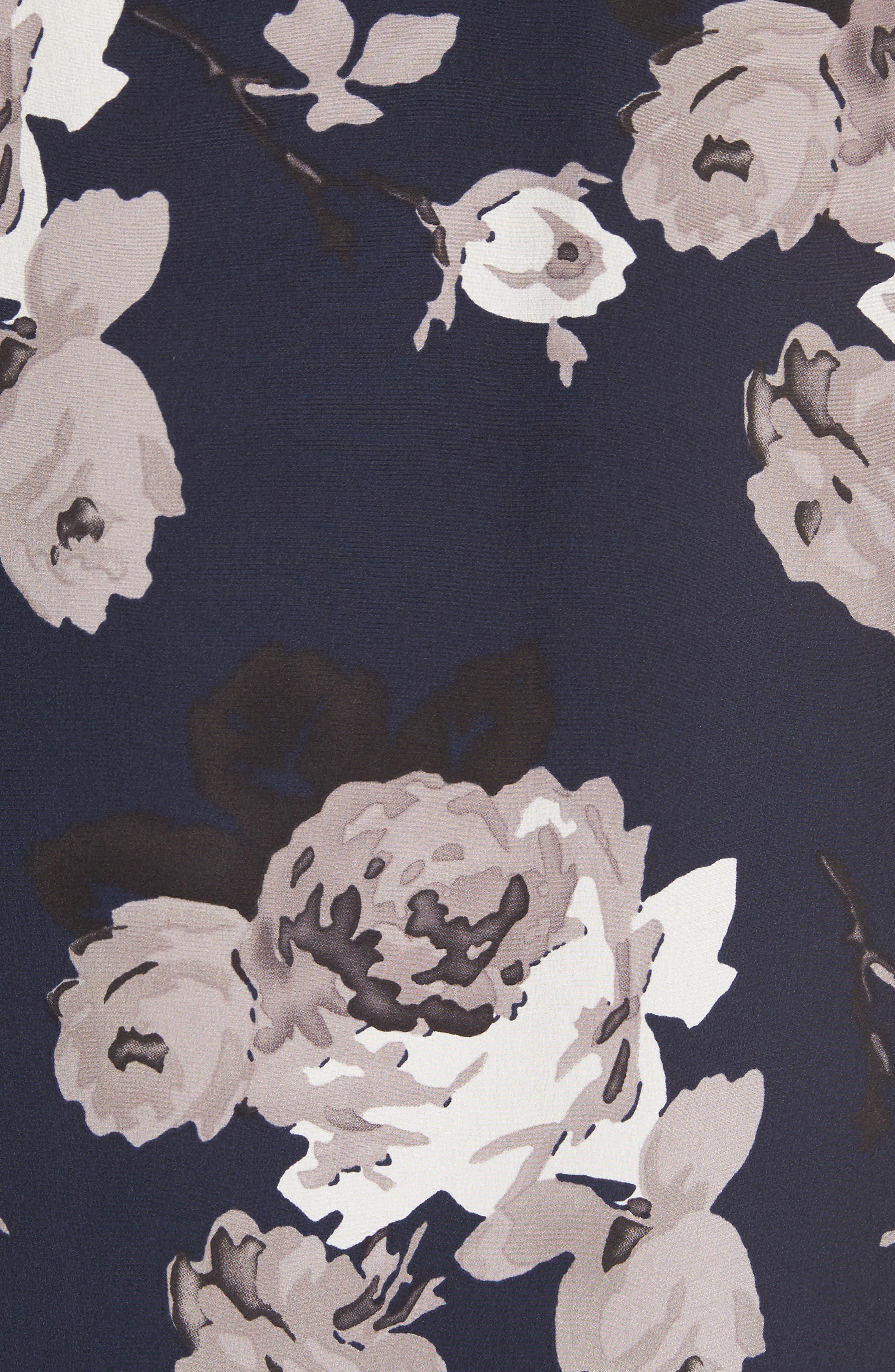 Antazie Floral Crêpe de Chine Top,                             Alternate thumbnail 5, color,                             473
