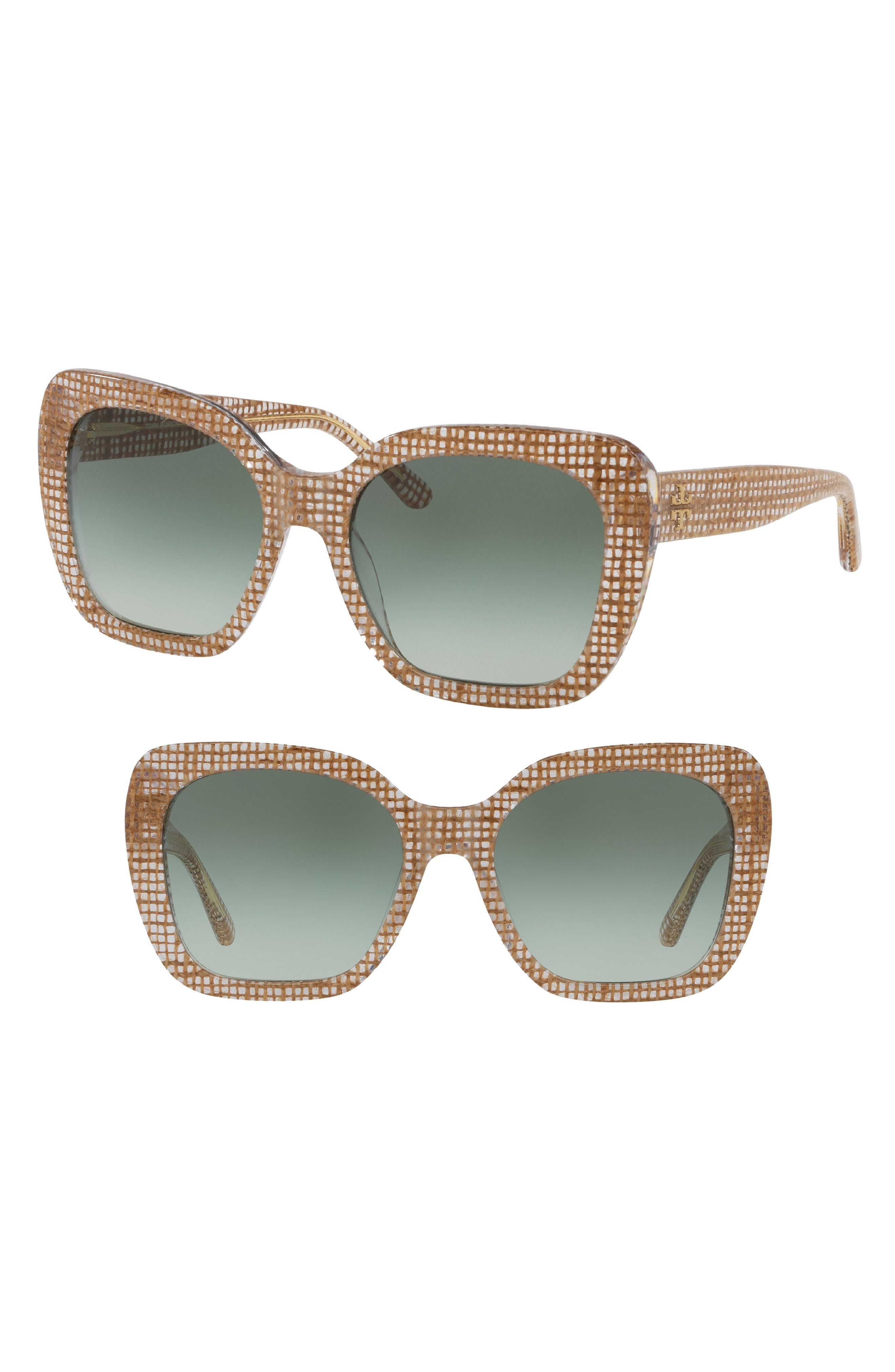 Raffia 56mm Square Sunglasses,                             Main thumbnail 1, color,                             CRYSTAL GRADIENT